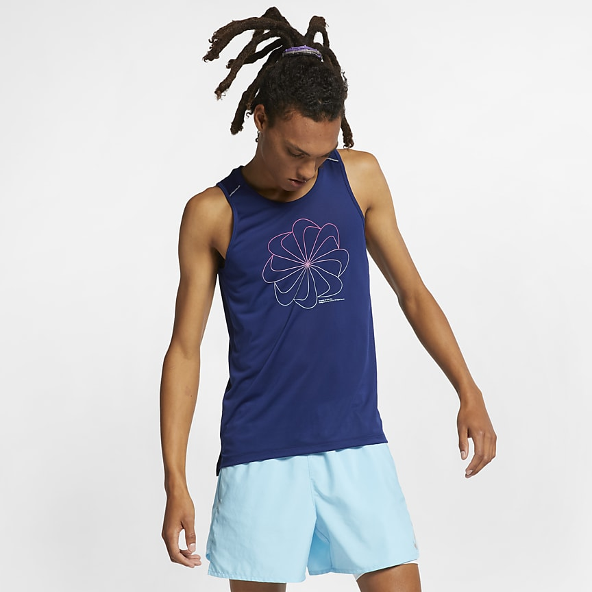 Men's Graphic Running Tank