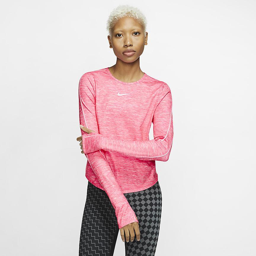 Damska koszulka z długim rękawem do biegania