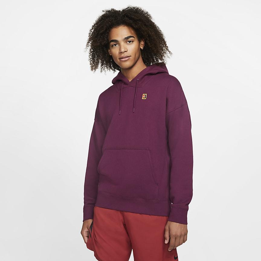 Sudadera con capucha de tenis de tejido Fleece para hombre