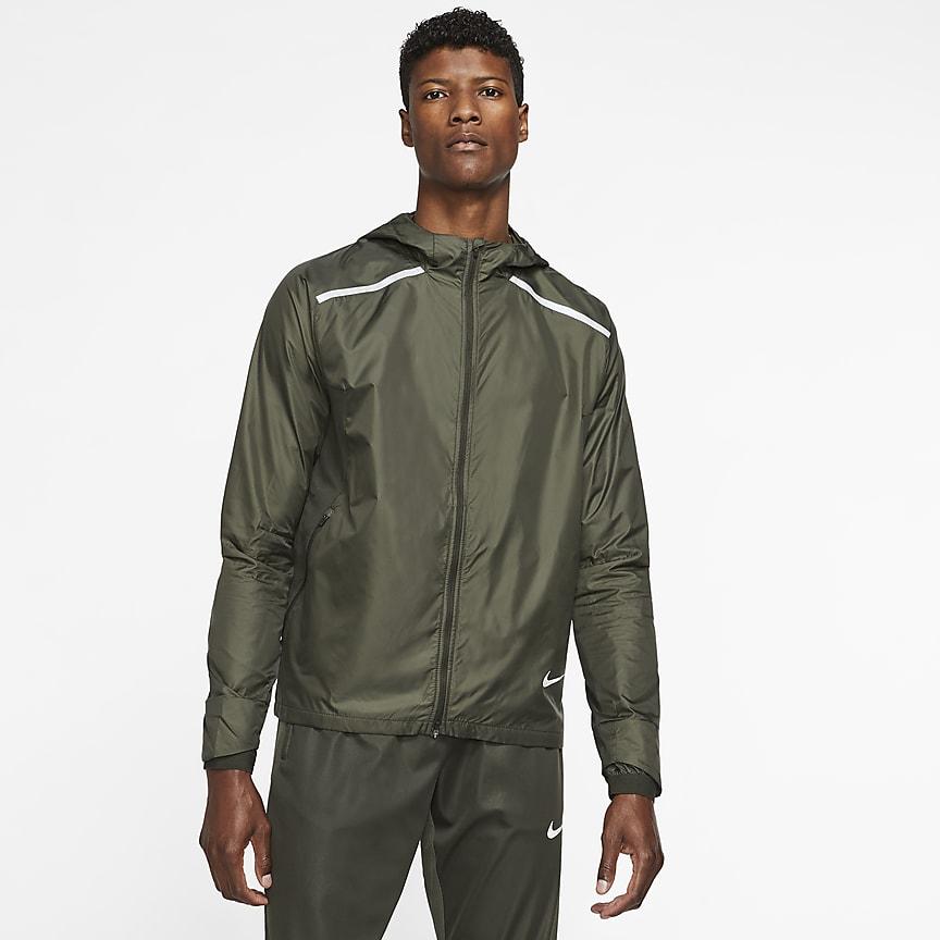 Мужская беговая куртка с капюшоном