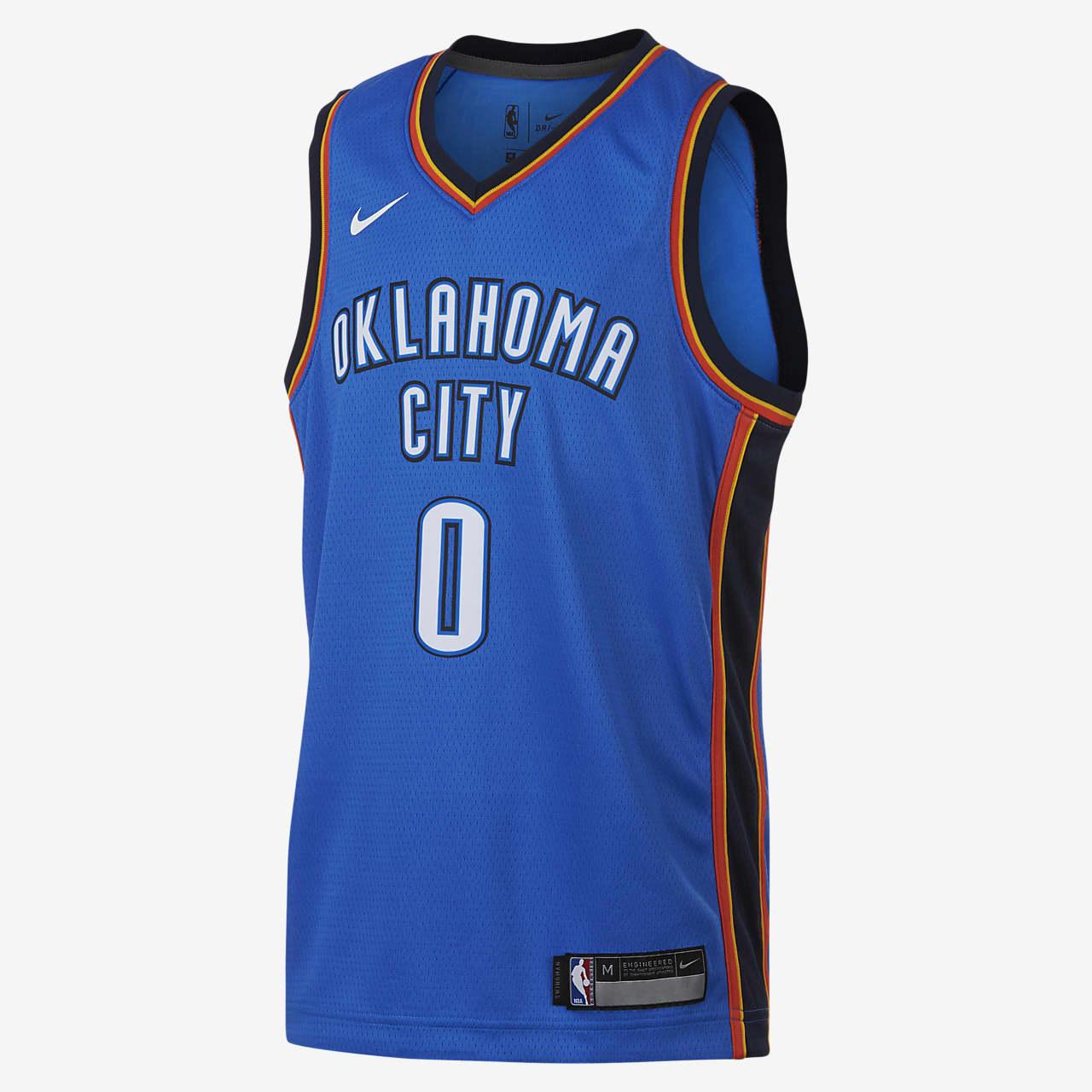 Koszulka NBA dla dużych dzieci Russell Westbrook Oklahoma City Thunder Nike Icon Edition Swingman