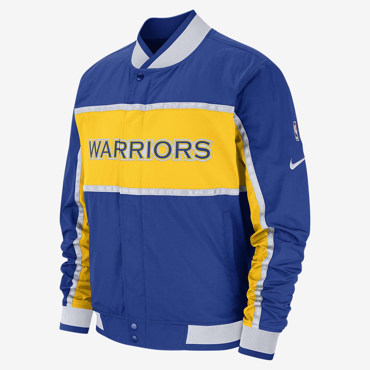 Nike NBA Golden State Warriors Courtside Hoodie Herren blau
