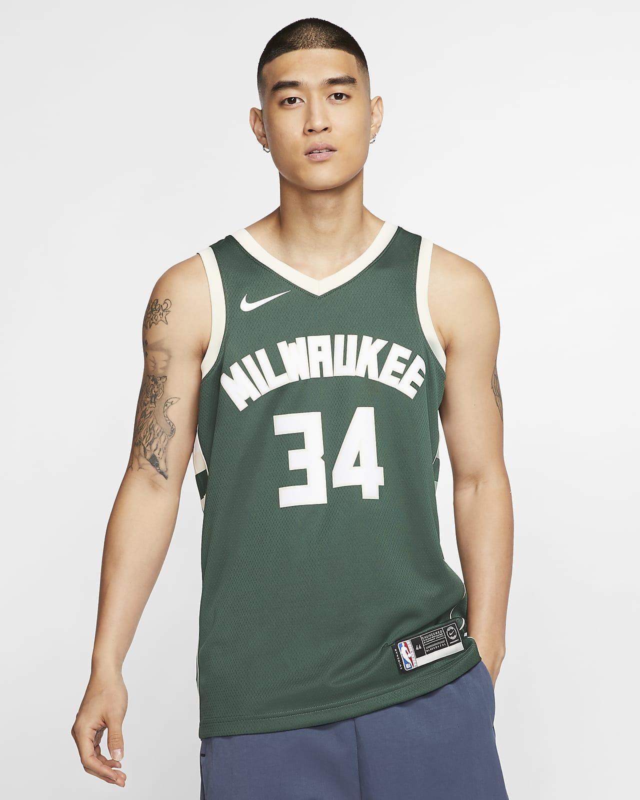 Giannis Antetokounmpo Bucks Icon Edition Nike NBA Swingman Jersey för män