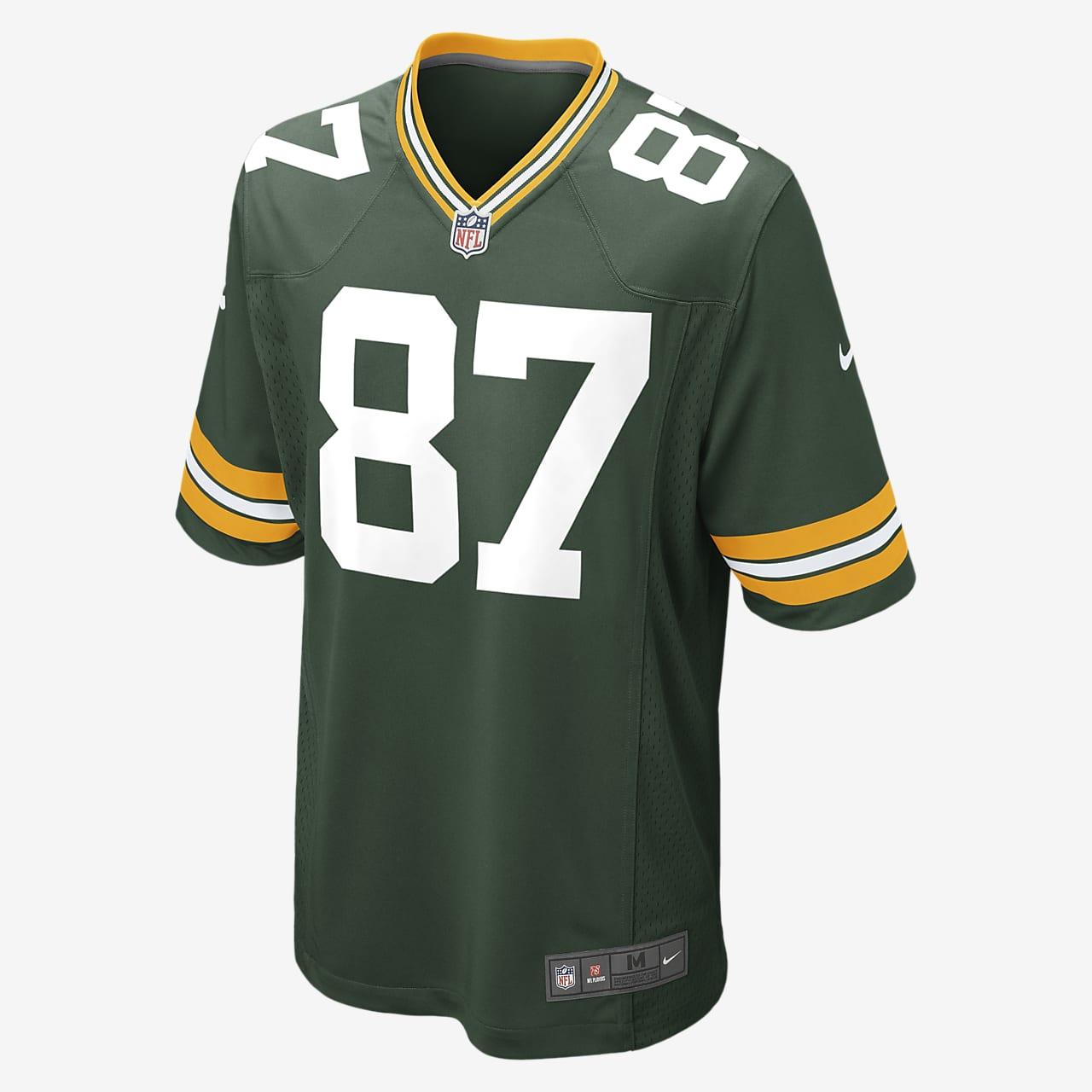 NFL Green Bay Packers (Jordy Nelson) hjemmedrakt til amerikansk fotball for herre