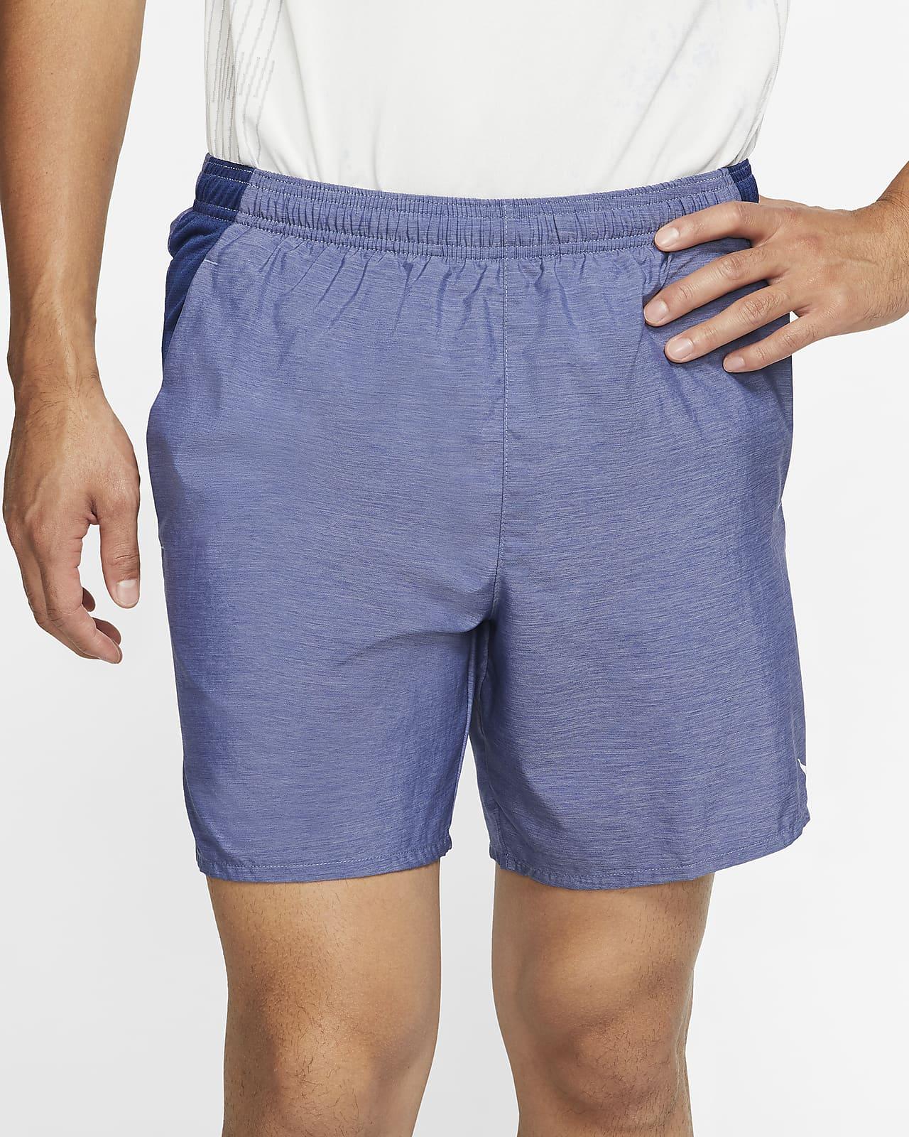 "XL /& XXL 856838-475 Nike Men/'s Flex Challenger 7/"" Navy//Black Running Shorts"
