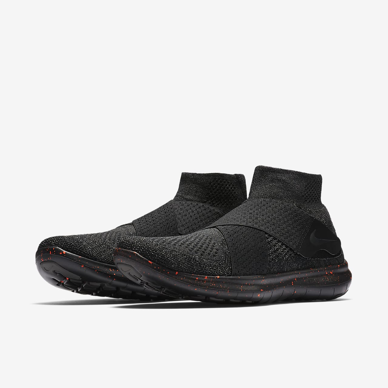 30+ Nike Men's Free Rn Motion Flyknit 2017 Running Shoes – Black/Anthracite Images