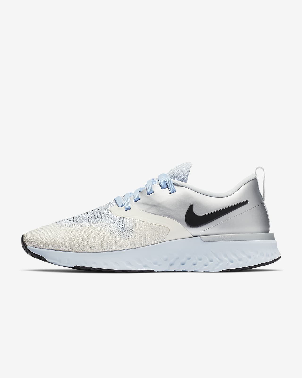 Black Nike Womens Odyssey React Flyknit 2 Running Shoe Size 7.0