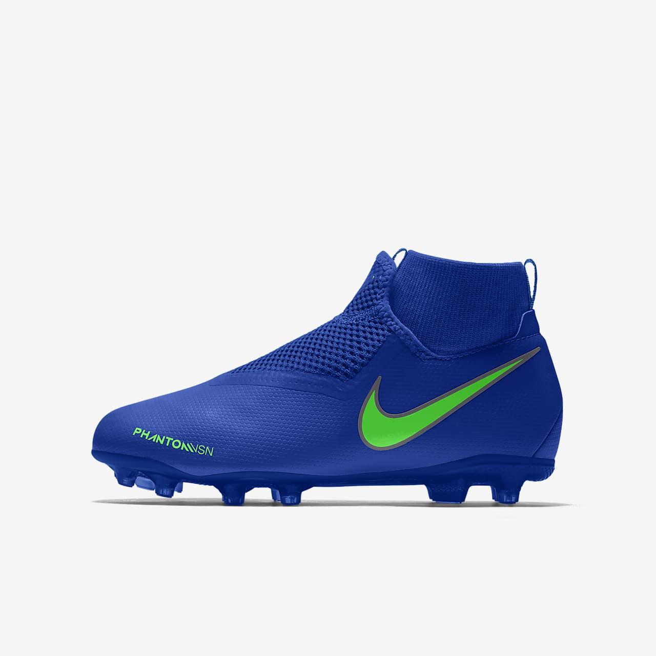 Personalizowane korki piłkarskie na różne nawierzchnie dla dużych dzieci Nike Phantom Vision Academy Jr. MG By You