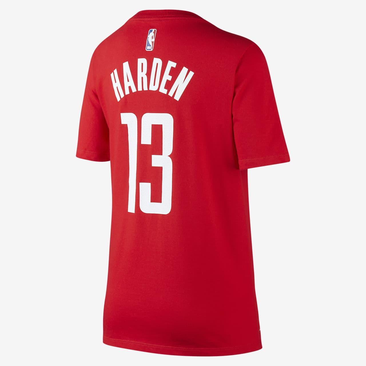 Tee shirt de basketball Nike Icon NBA Rockets (Harden) pour Garçon plus âgé