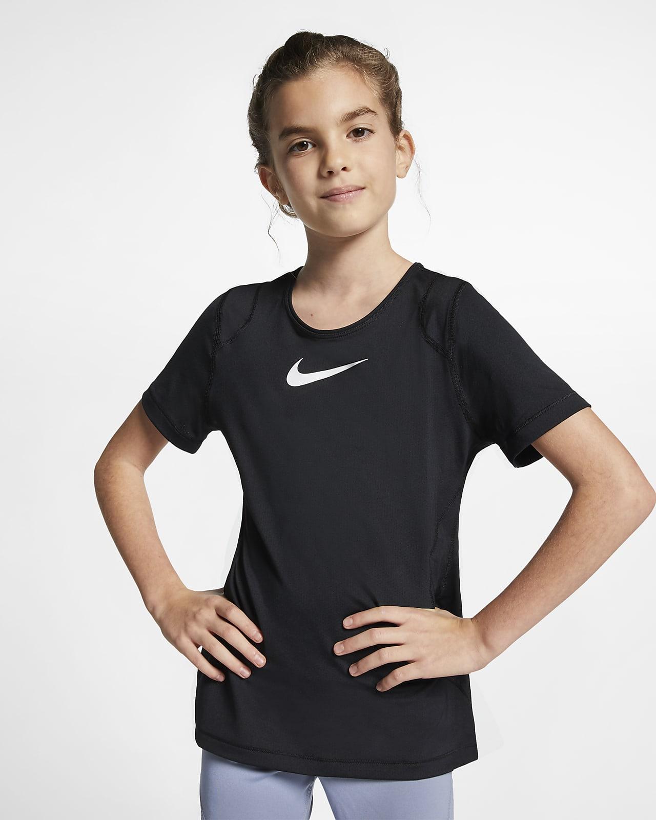 Nike Pro Big Kids' (Girls') Short-Sleeve Top