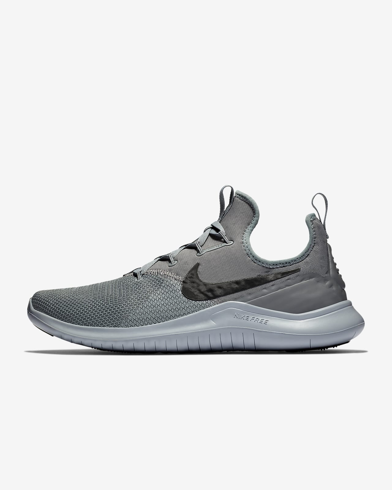 nike training free tr flyknit trainers in grey and blue