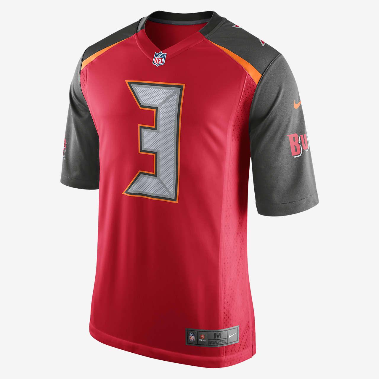 Ανδρική φανέλα αμερικανικού ποδοσφαίρου NFL Tampa Bay Buccaneers (Jameis Winston) Home
