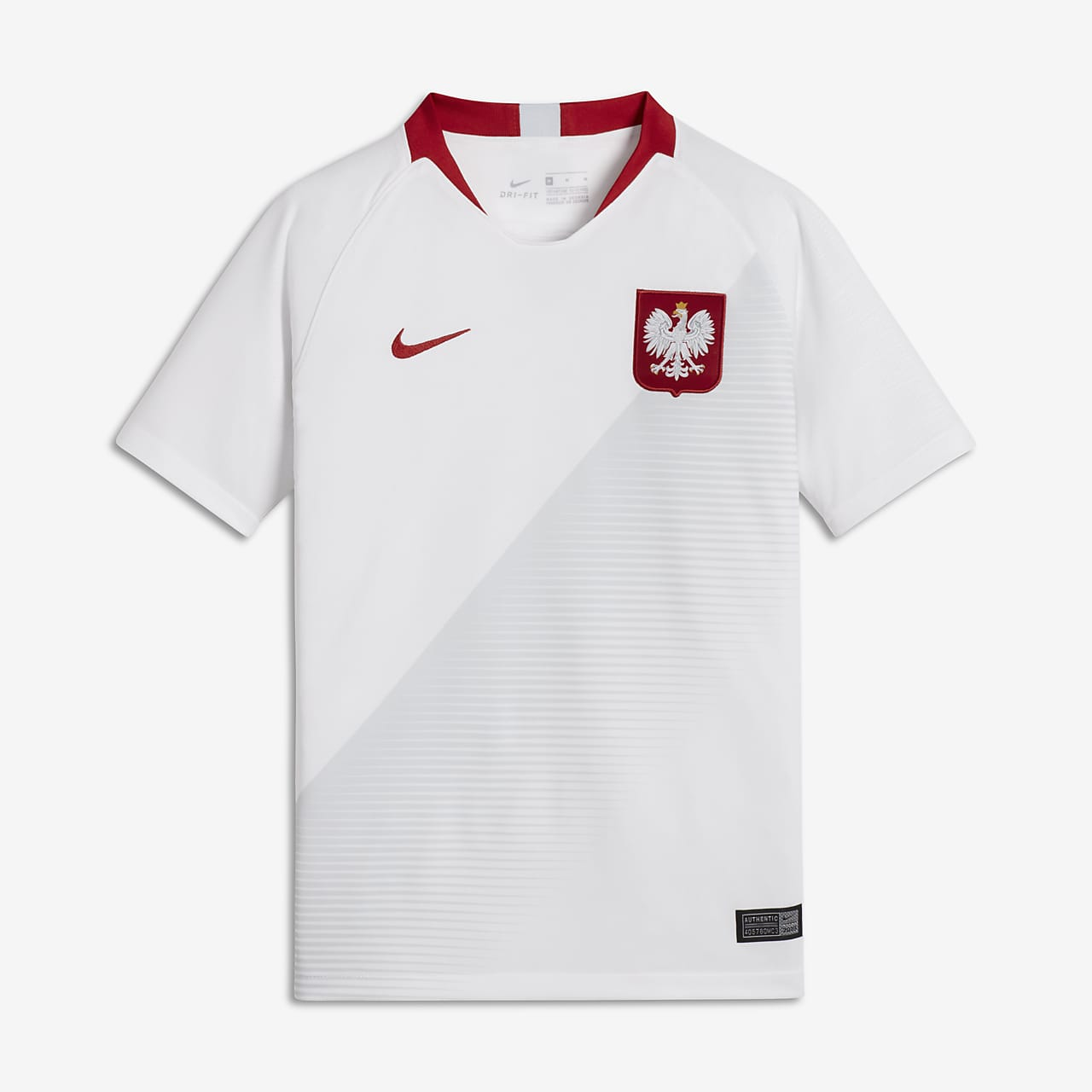 2018 Poland Stadium Home Older Kids' Football Shirt
