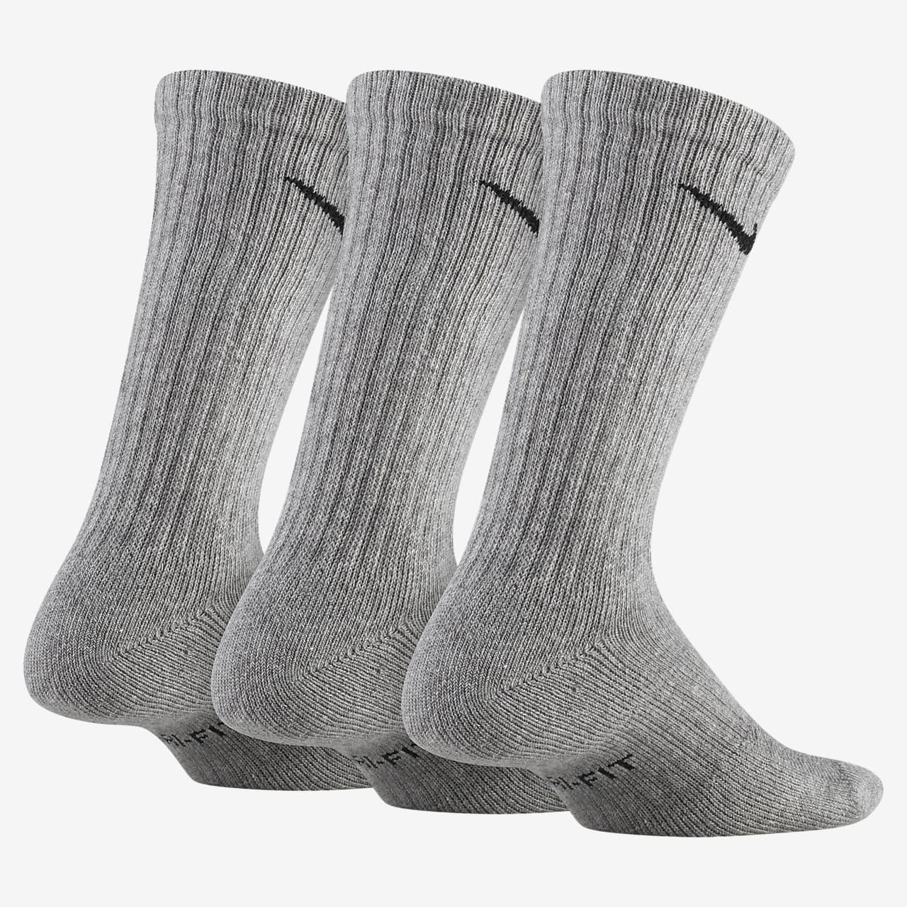 Nike Everyday Kids' Cushioned Crew Socks (3 Pairs)