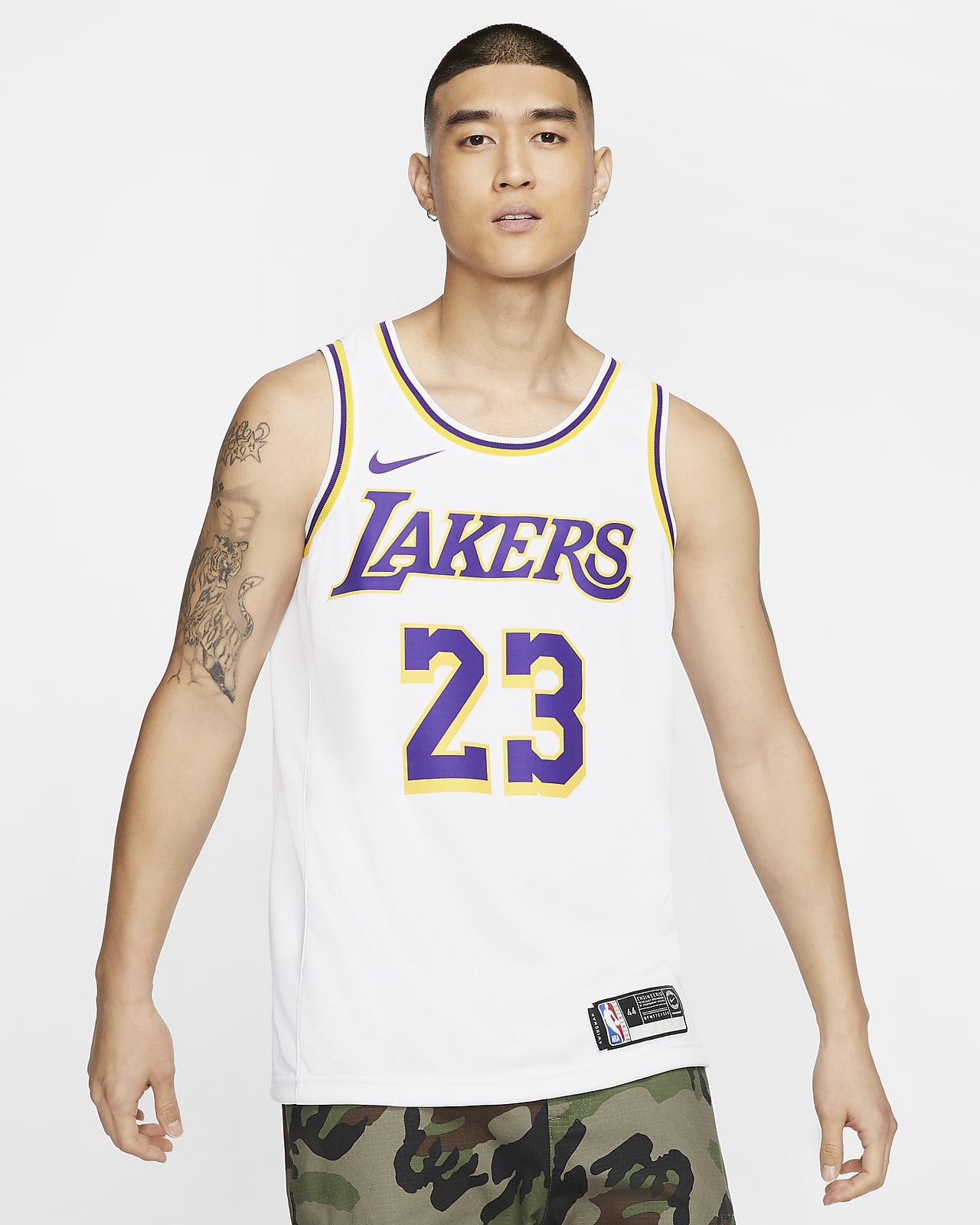 Maillot d'équipe Nike NBA Swingman LeBron James Lakers Association Edition