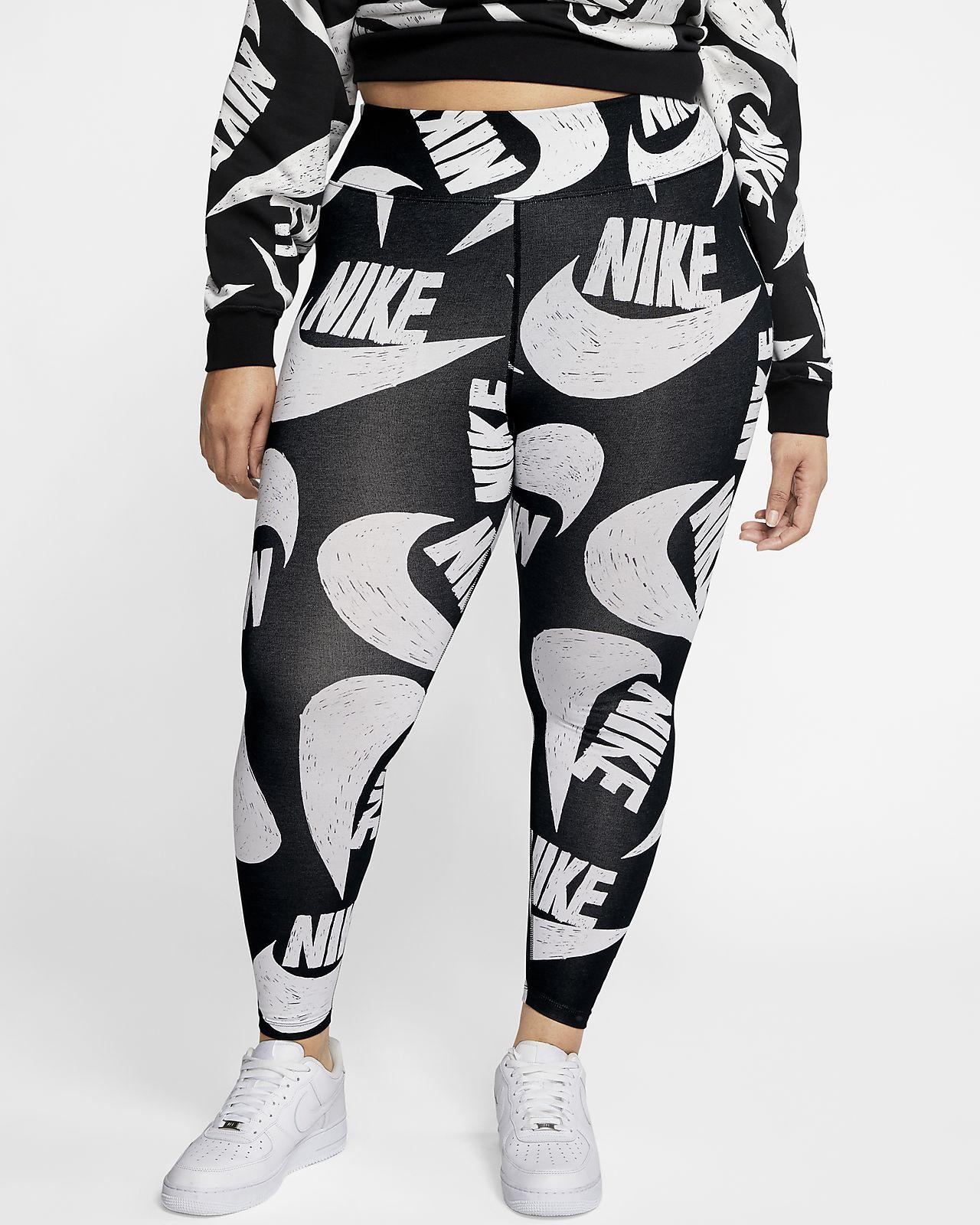 Nike Sportswear Icon Clash Legging met print voor dames (grote maten)
