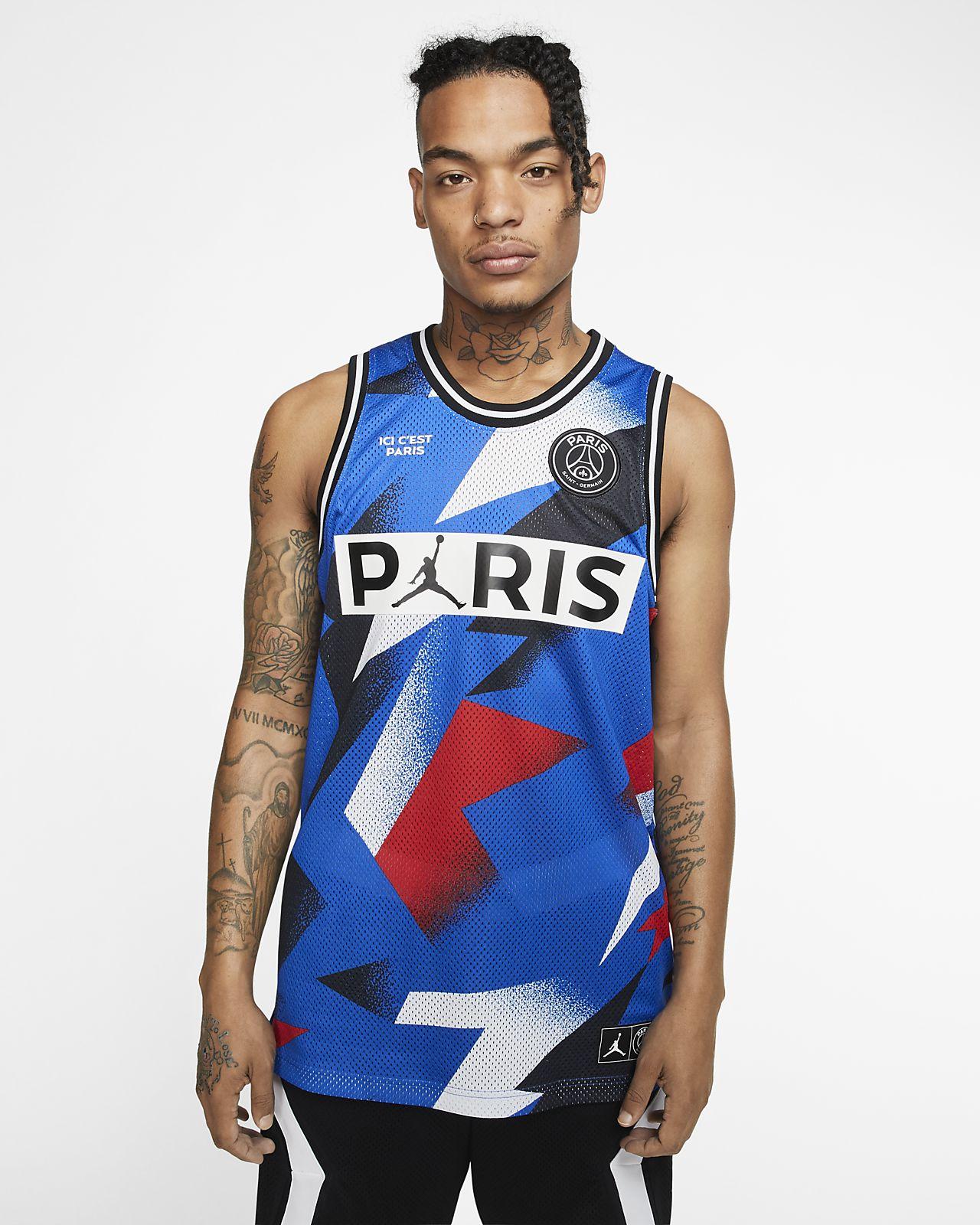 Męska koszulka z siateczki Paris Saint-Germain