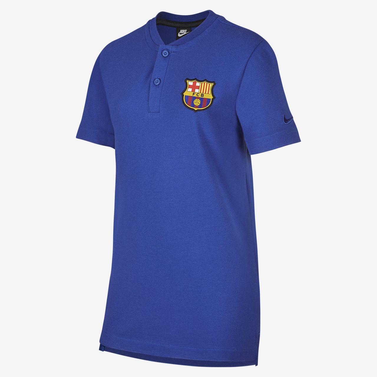 Ποδοσφαιρική μπλούζα πόλο FC Barcelona για μεγάλα παιδιά