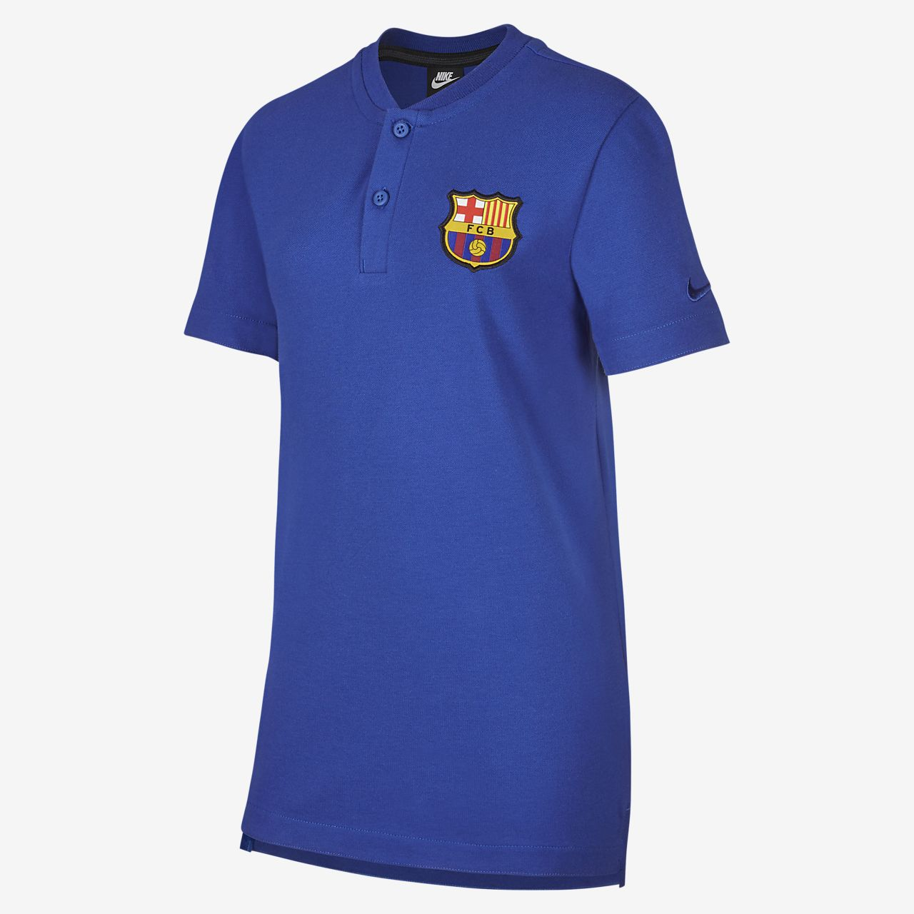 FC Barcelona Older Kids' Football Polo