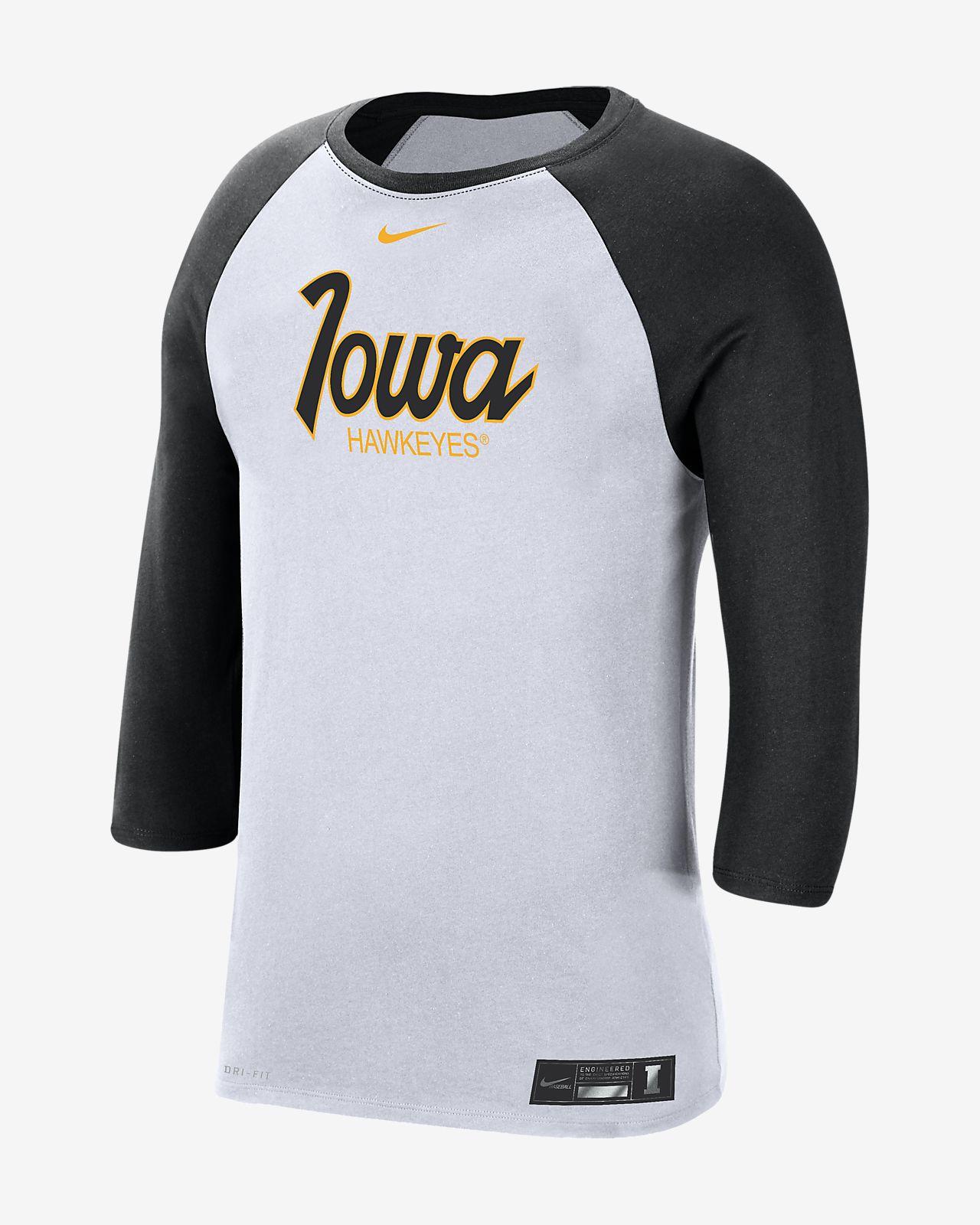 Nike College Dri-FIT (Iowa) Men's 3/4-Sleeve T-Shirt