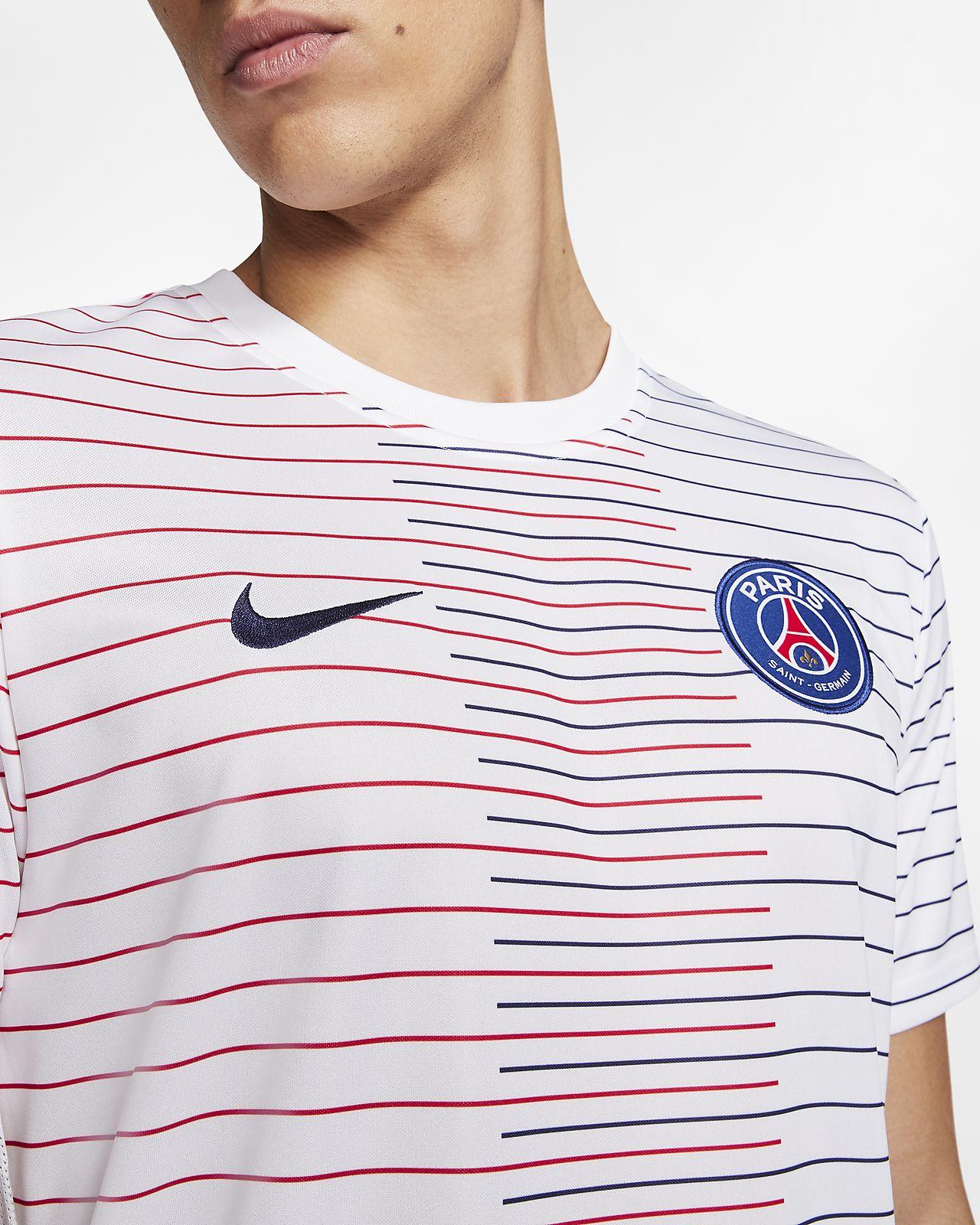 Nike Breathe Paris Saint Germain Strike Men's Short Sleeve Football Top