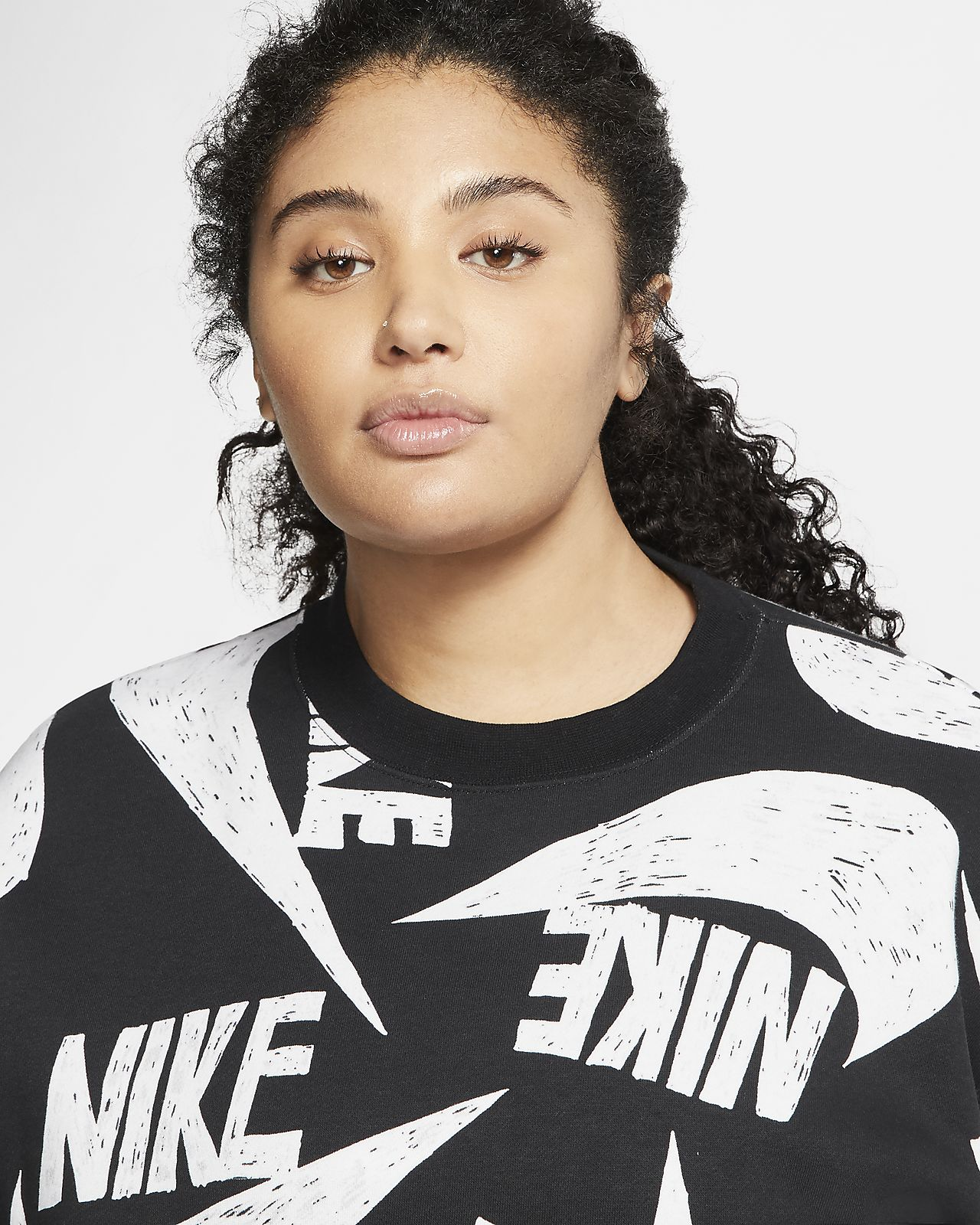 Nike Sportswear Icon Clash Women's Fleece Crew (Plus Size)