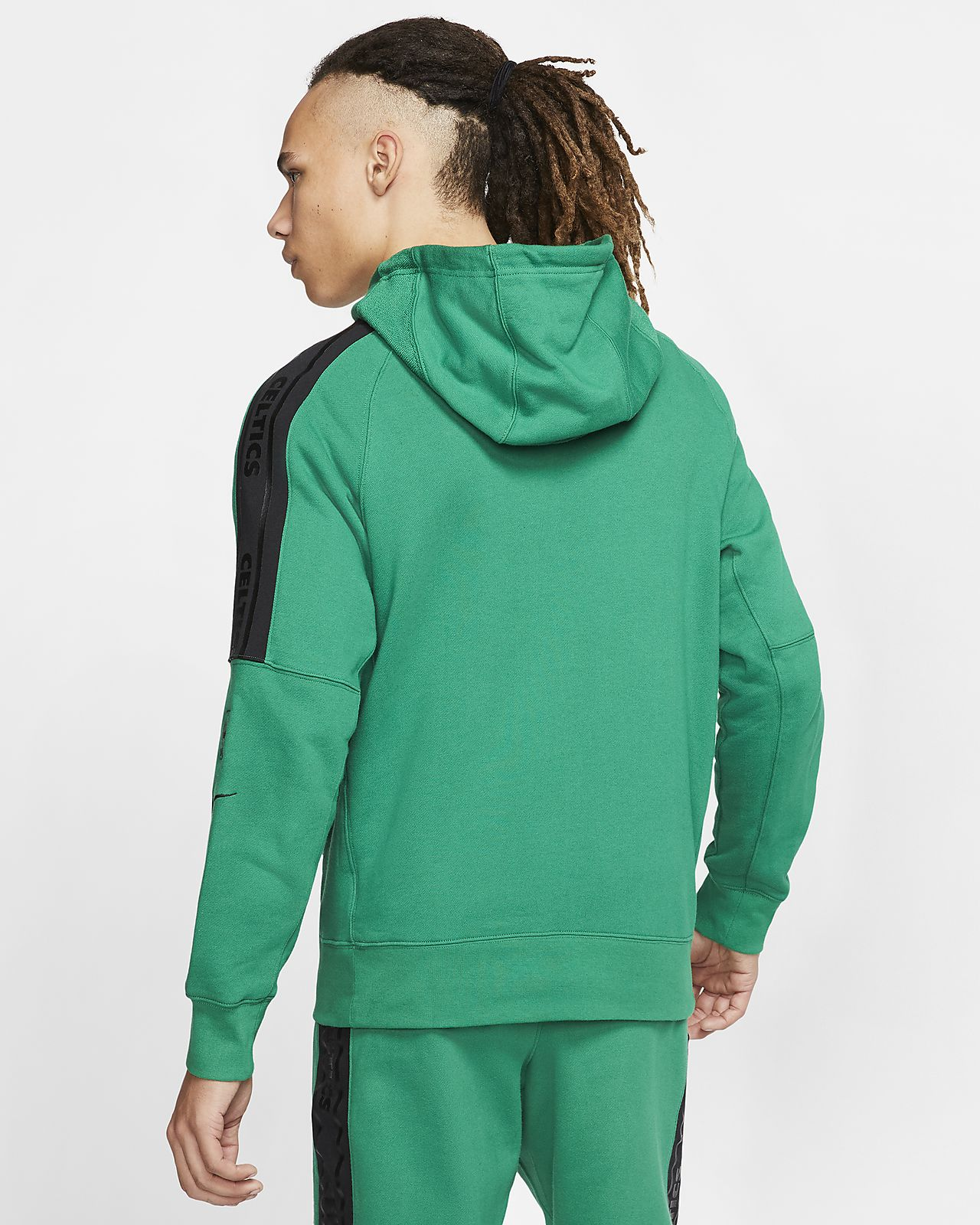 Men's Houston Rockets Nike Heathered Black Authentic Showtime Therma Flex Performance Full Zip Hoodie