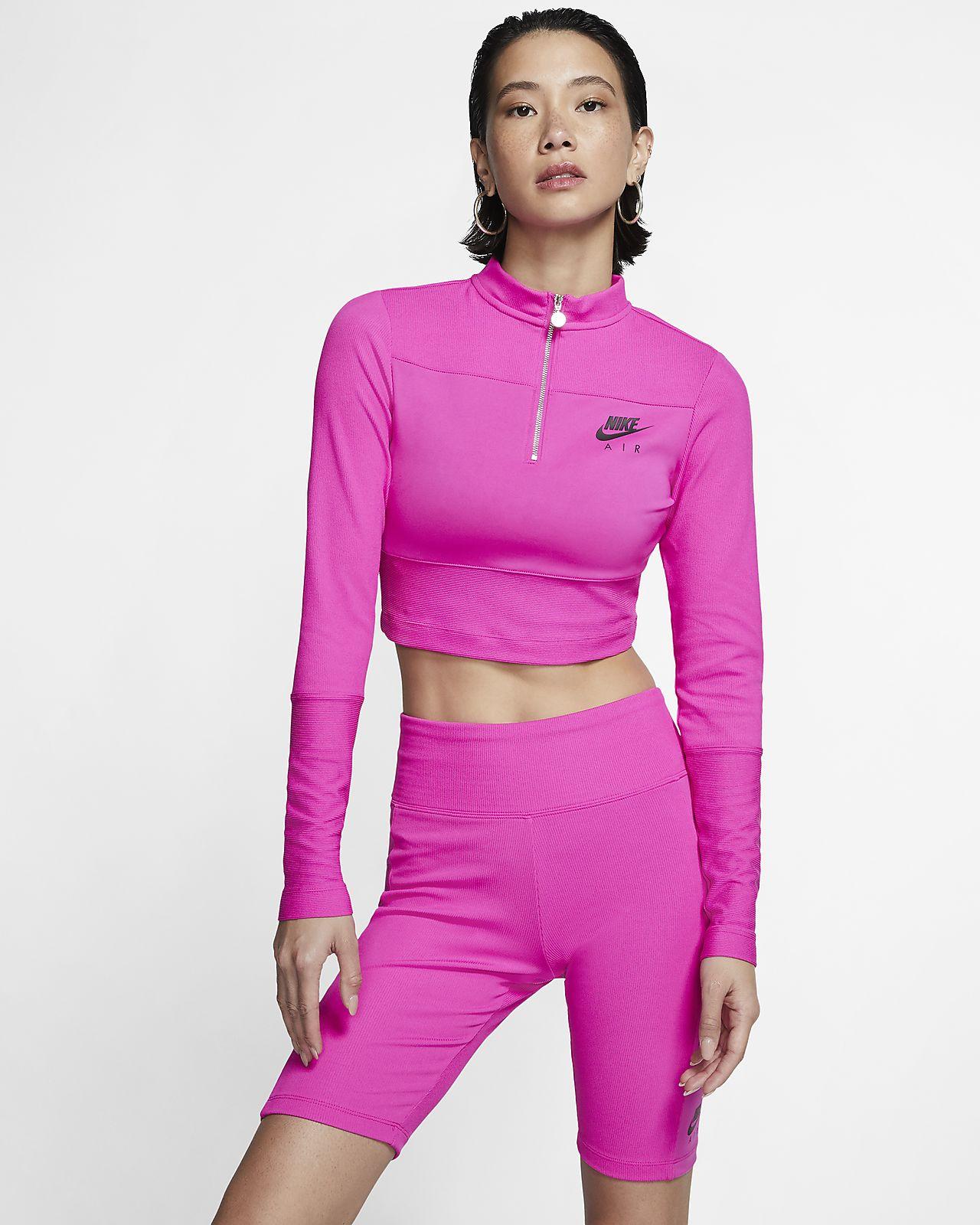 Женская футболка из рубчатой ткани с длинным рукавом Nike Air