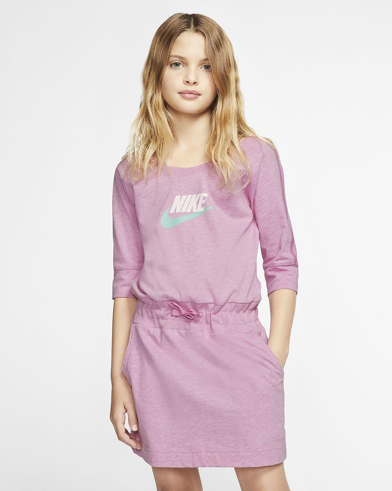 Nike Sportswear Swoosh Big Kids' (Girls') Dress