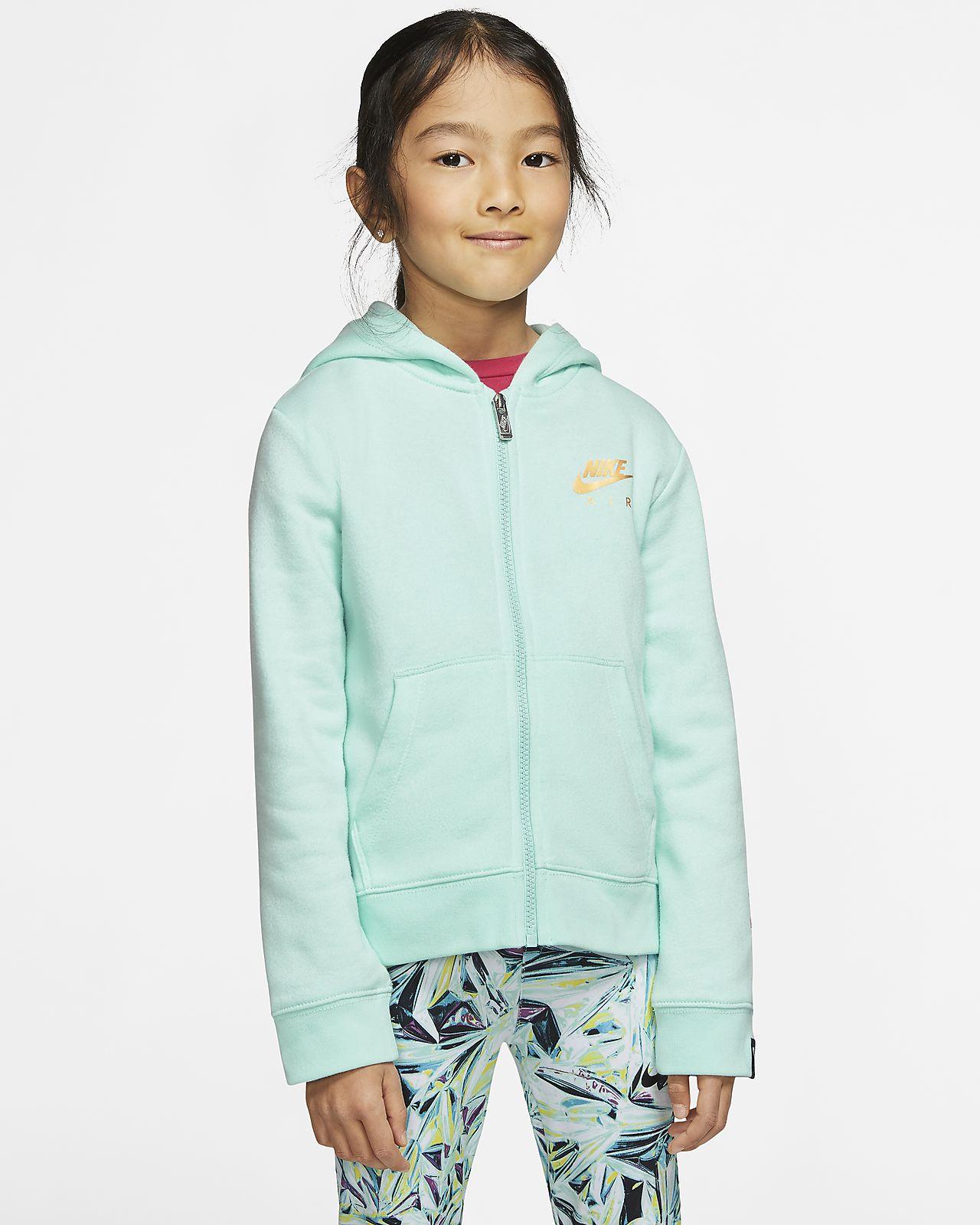 Nike Sportswear Fleece Hoodie mit durchgehendem Reißverschluss für jüngere Kinder