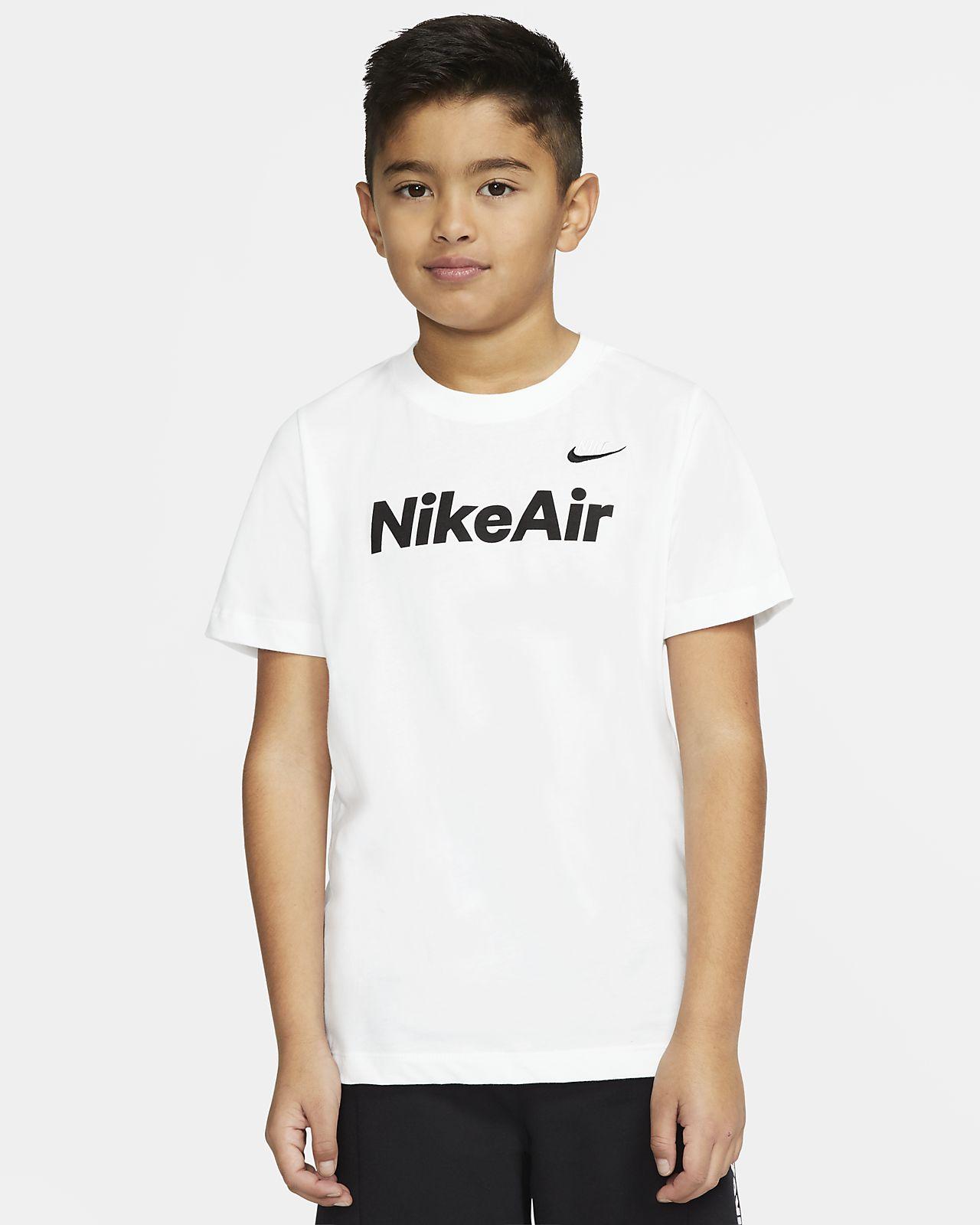 nike air t shirt jungen schwarz
