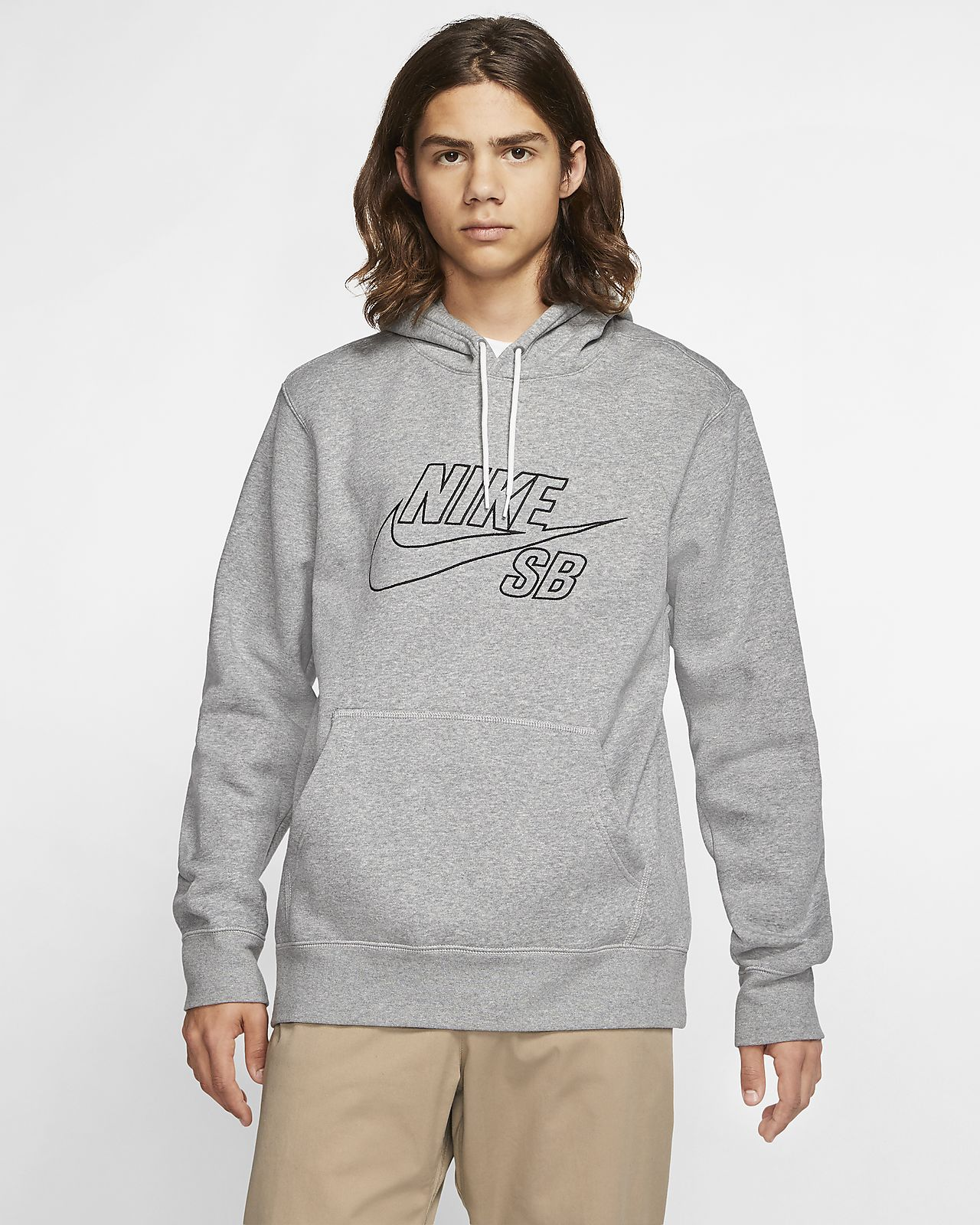 Nike SB pullover-skaterhættetrøje til mænd
