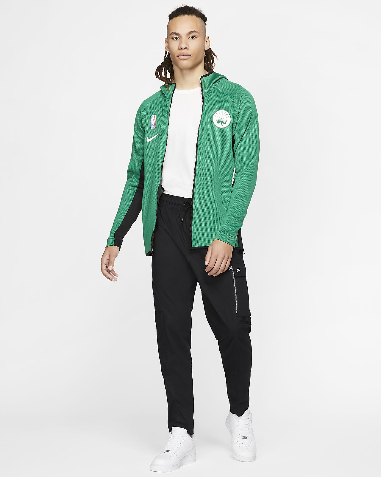 Boston Celtics Nike Therma Flex Showtime Full Zip Hoodie