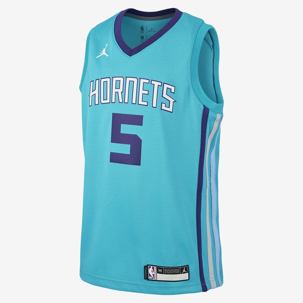 Maglia Nicolas Batum Hornets Icon Edition Authentic Jordan NBA - Ragazzi