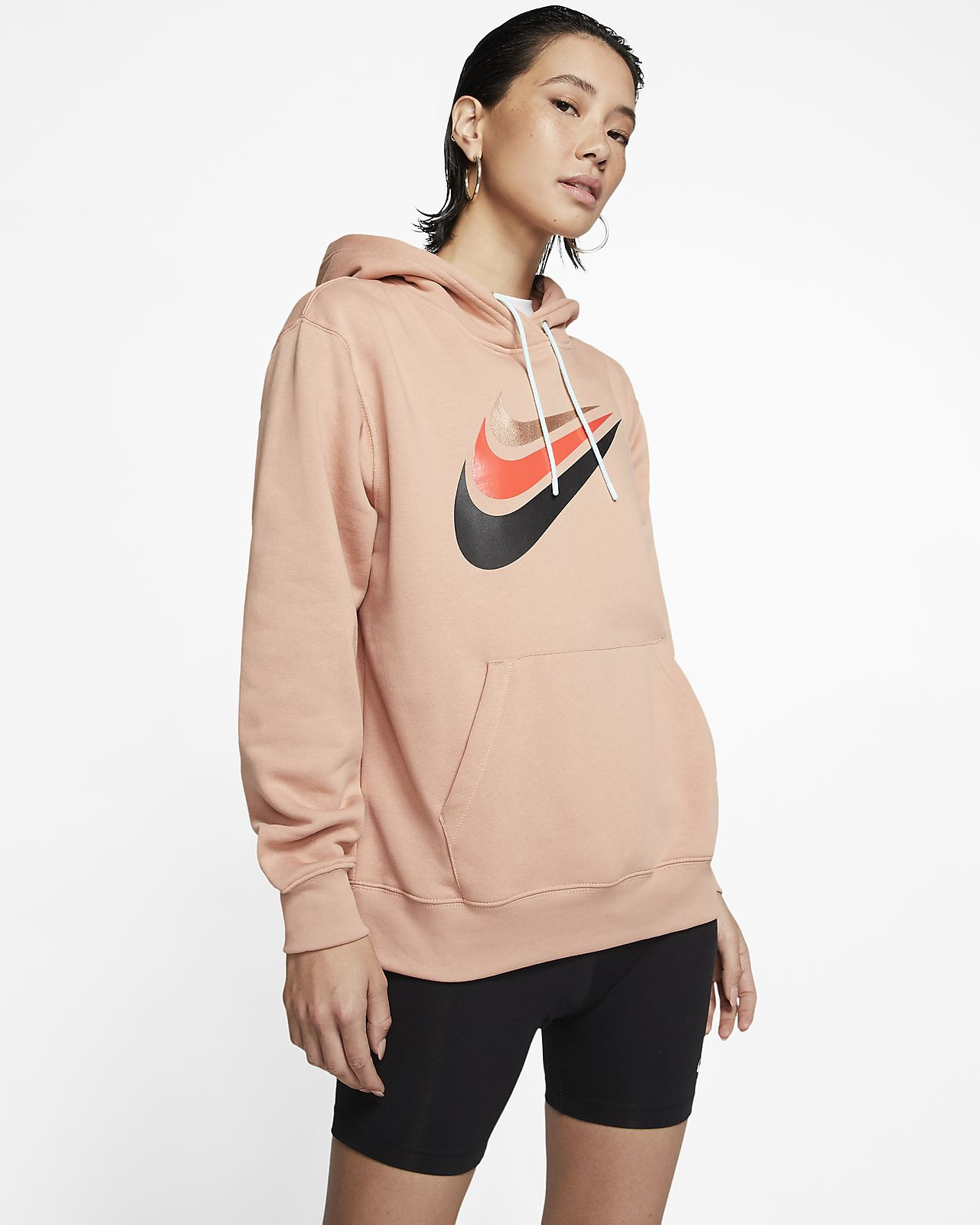Felpa in fleece con cappuccio Nike Air Donna. Nike CH