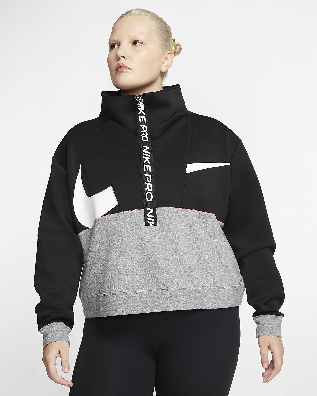 Nike Pro Get Fit Fleece Oberteil für Damen (große Größe)
