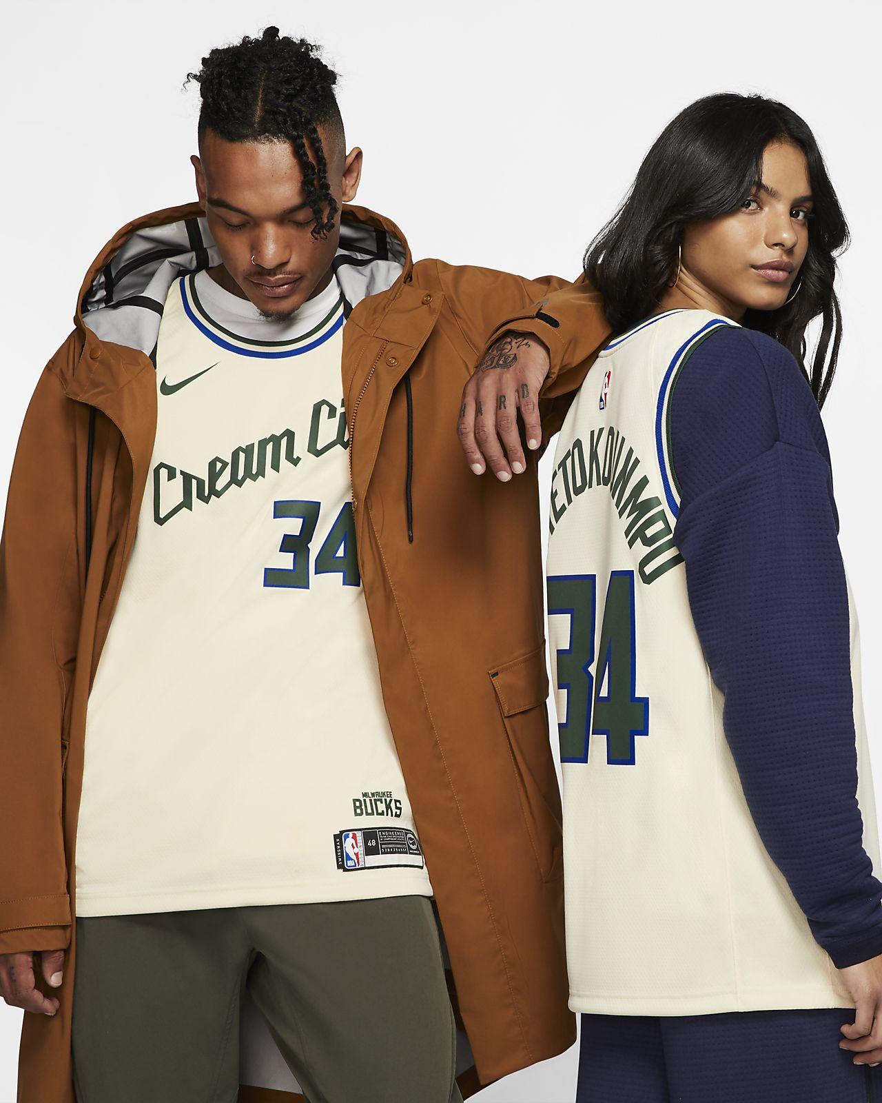 Giannis Antetokounmpo Bucks - City Edition Swingman Nike NBA-jersey voor heren