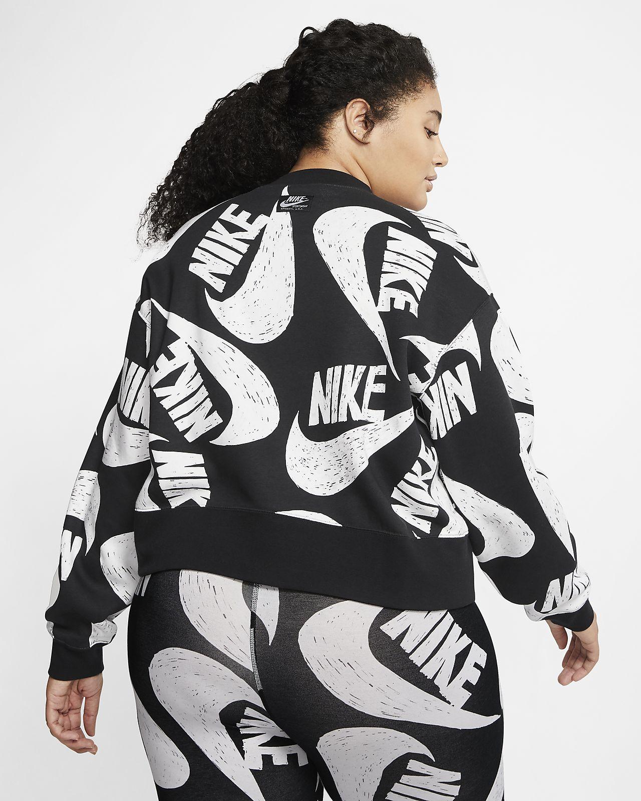 Nike Sportswear Crew Plus Sweatshirt Schwarz Damen