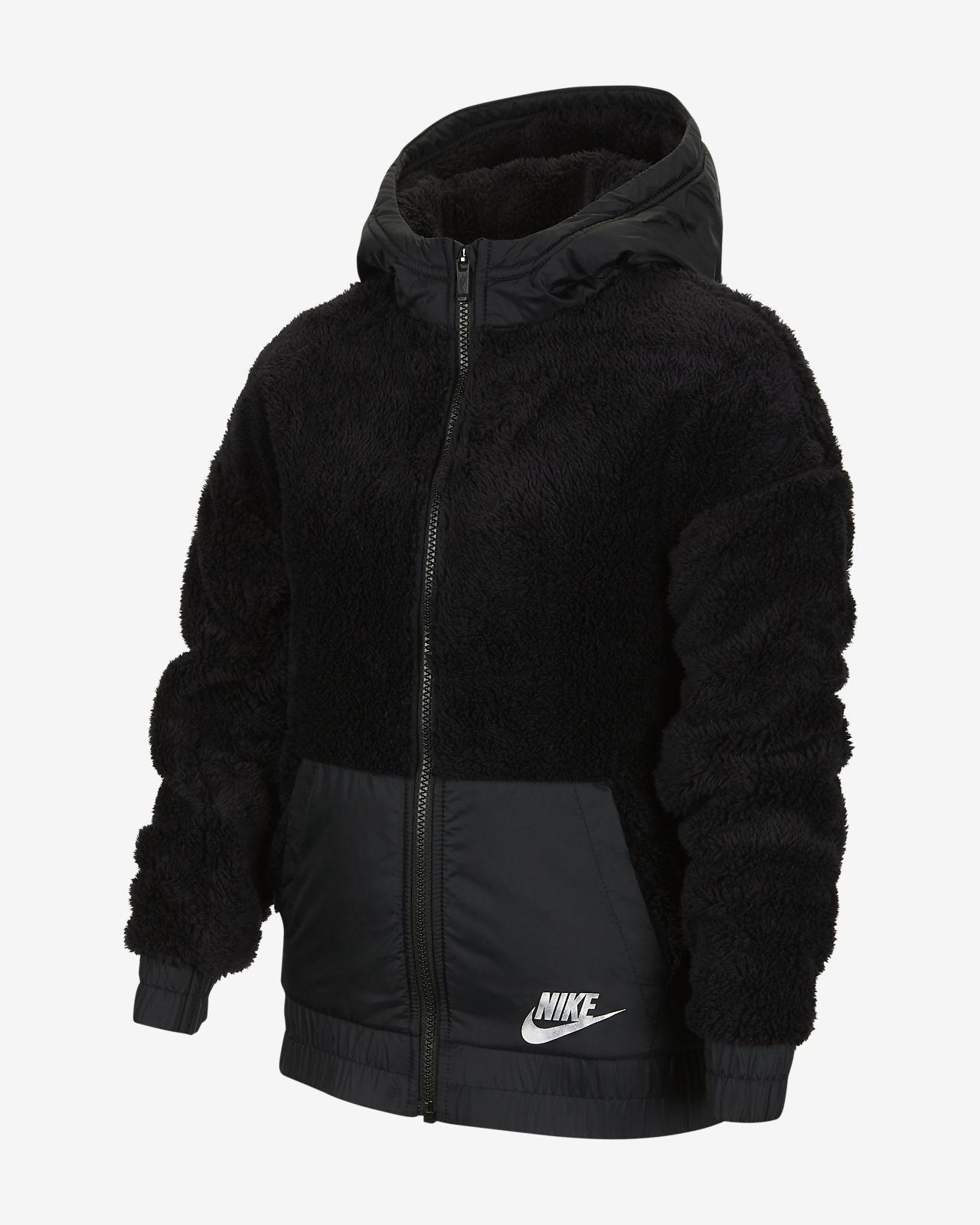 nike sportswear kinderjacke black white