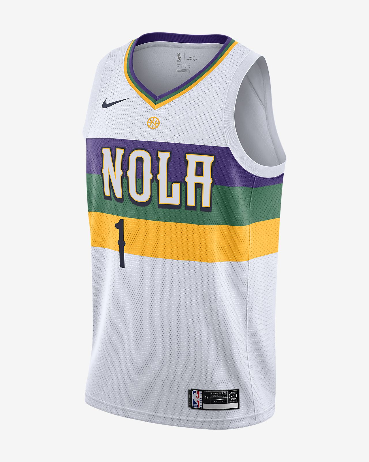 buy cheap ever popular aliexpress City Edition Swingman (New Orleans Pelicans) Men's Nike NBA Connected Jersey