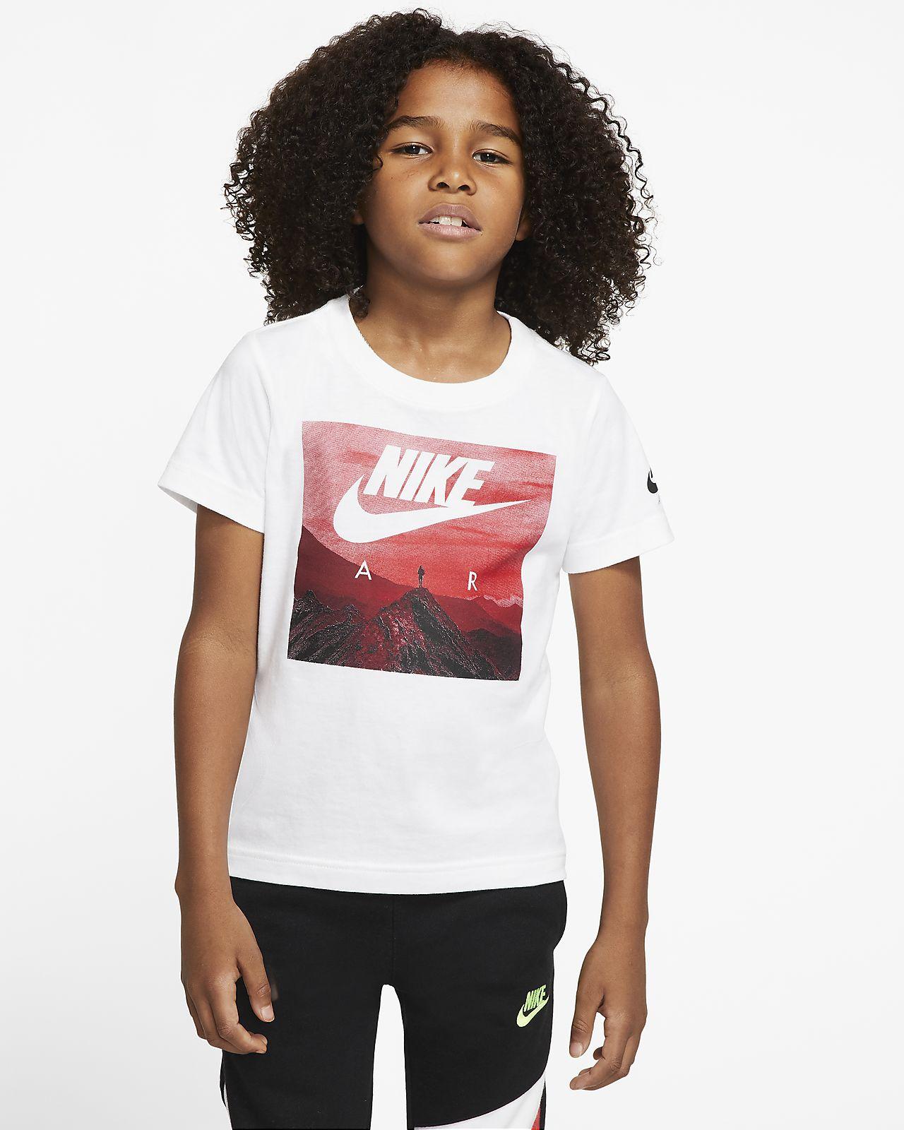 T-shirt z krótkim rękawem dla małych dzieci Nike Air