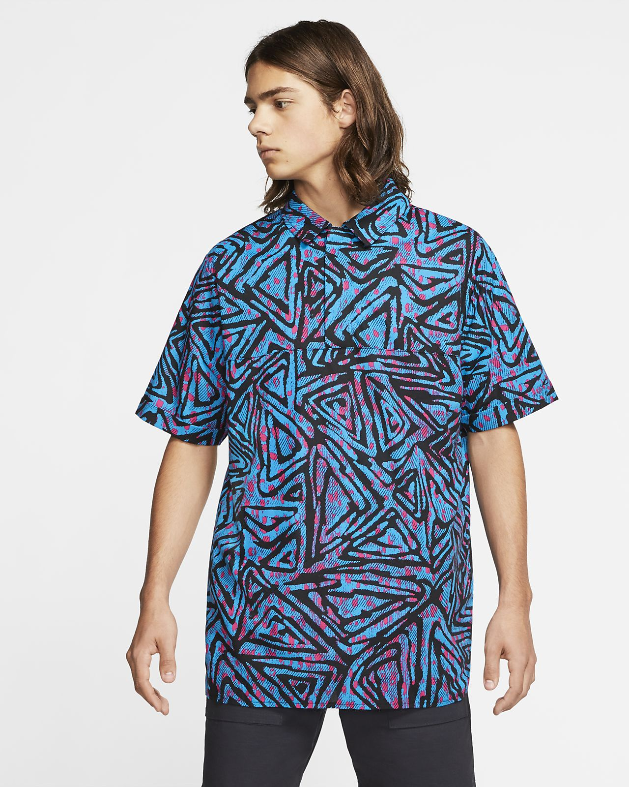 Nike SB Men's Printed Woven Skate Polo
