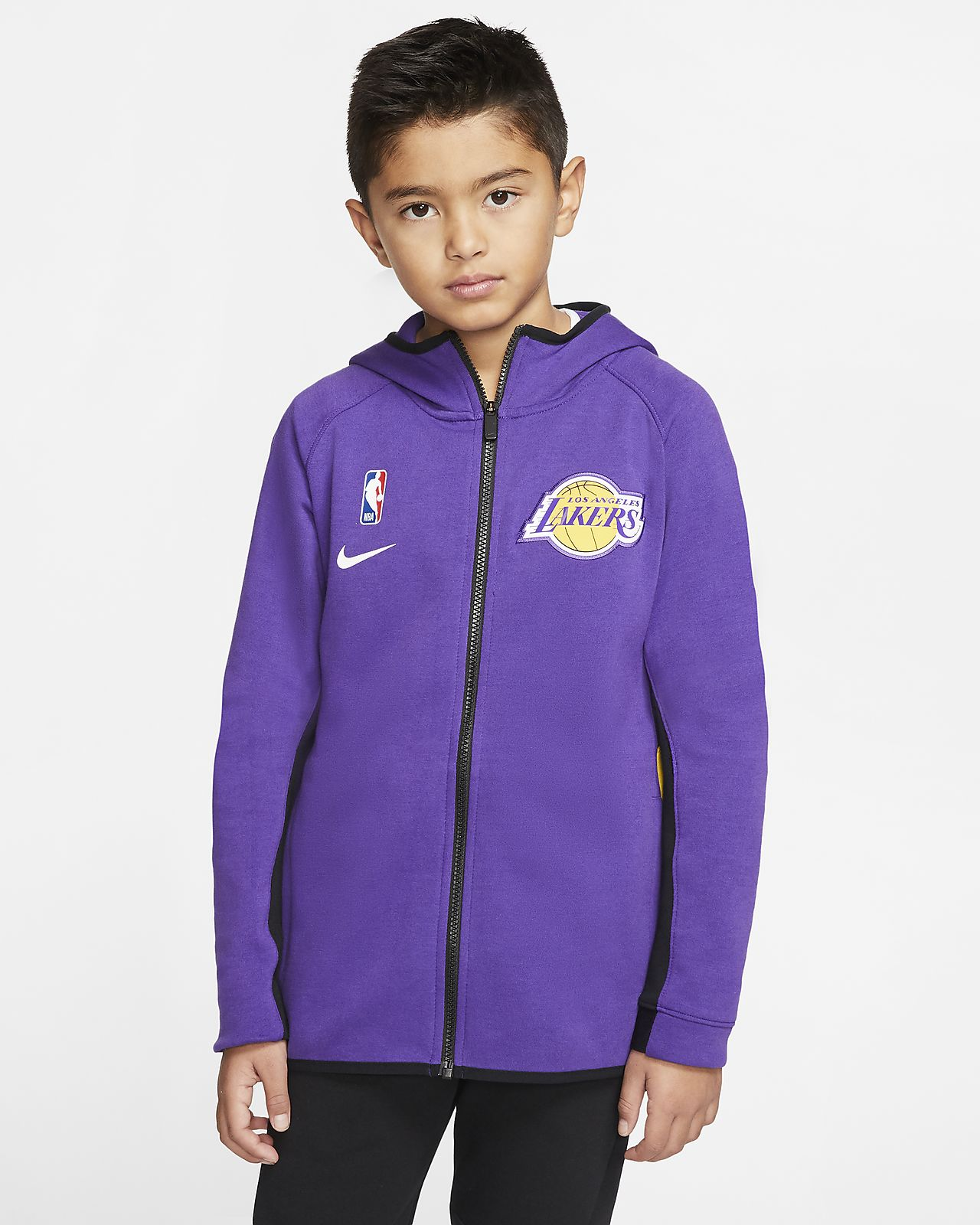 Bluza z kapturem dla dużych dzieci Nike NBA Lakers Courtside