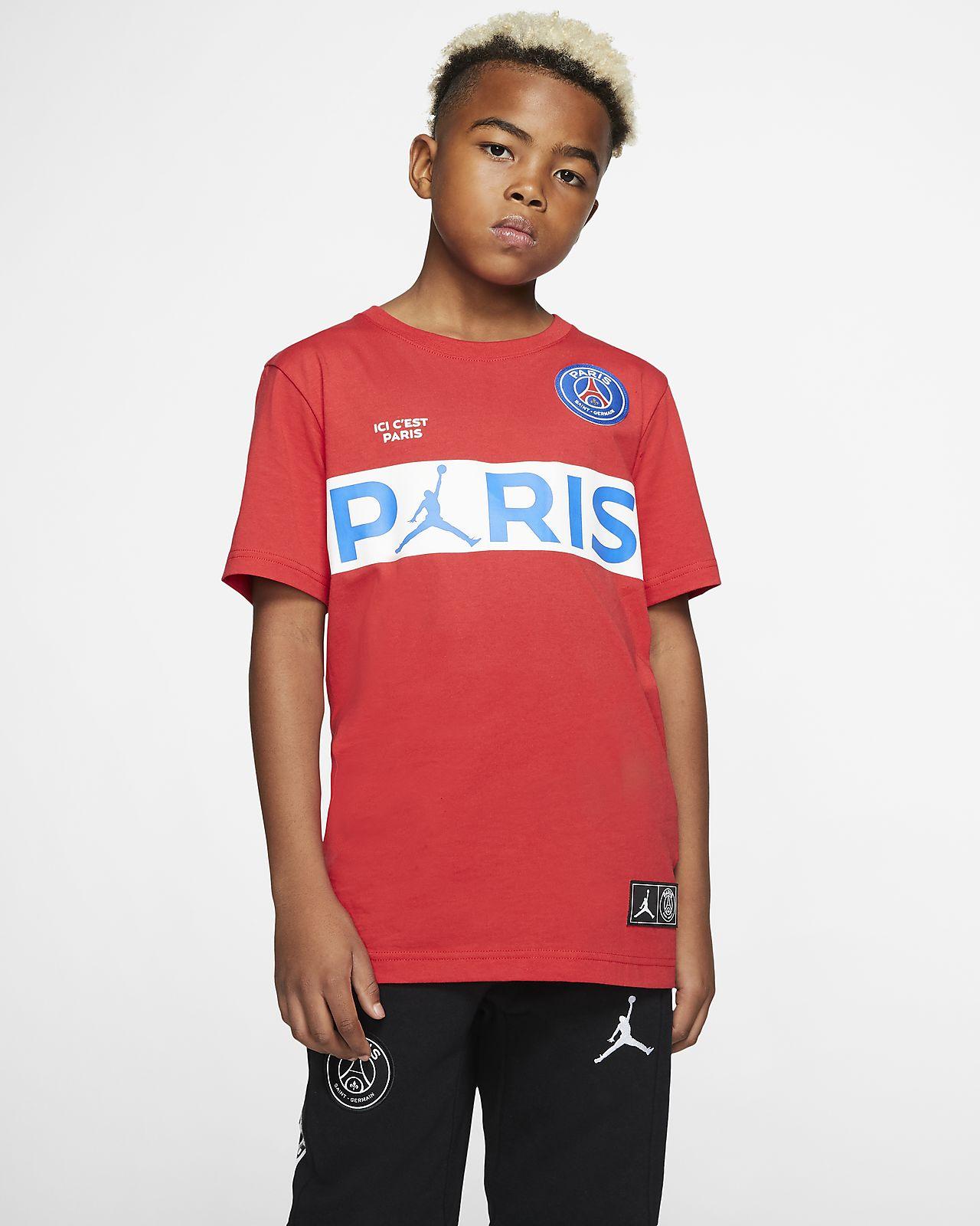 Kortærmet PSG T shirt til store børn (drenge). Nike DK
