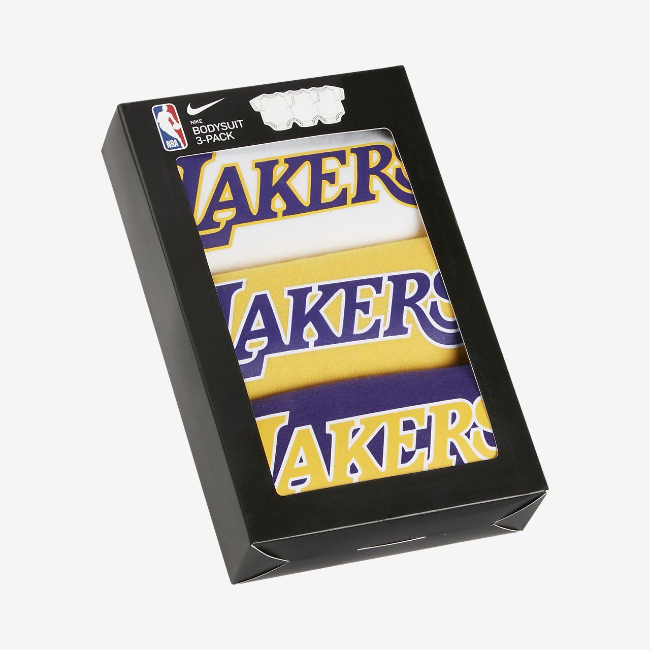 Lakers Conjunto de monos (3 unidades) Nike NBA - Bebé