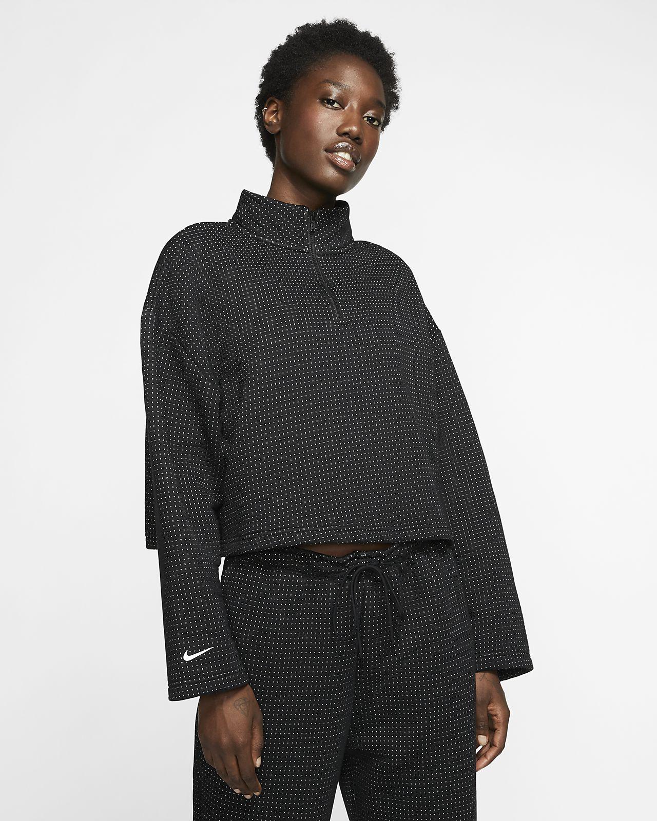Prenda para la superior con cierre de 1/4 para mujer Nike Sportswear Tech Fleece