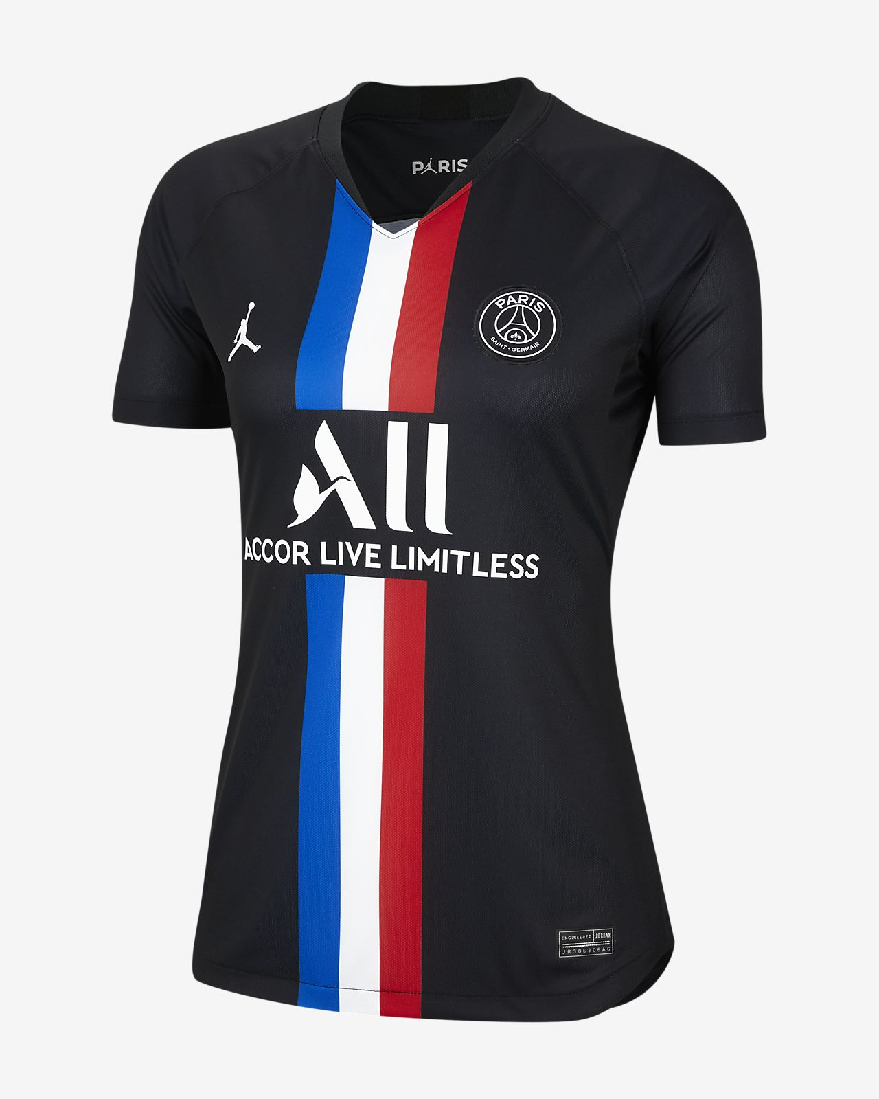 Jordan x Paris Saint-Germain 2019/20 Stadium Fourth Women's Football Shirt