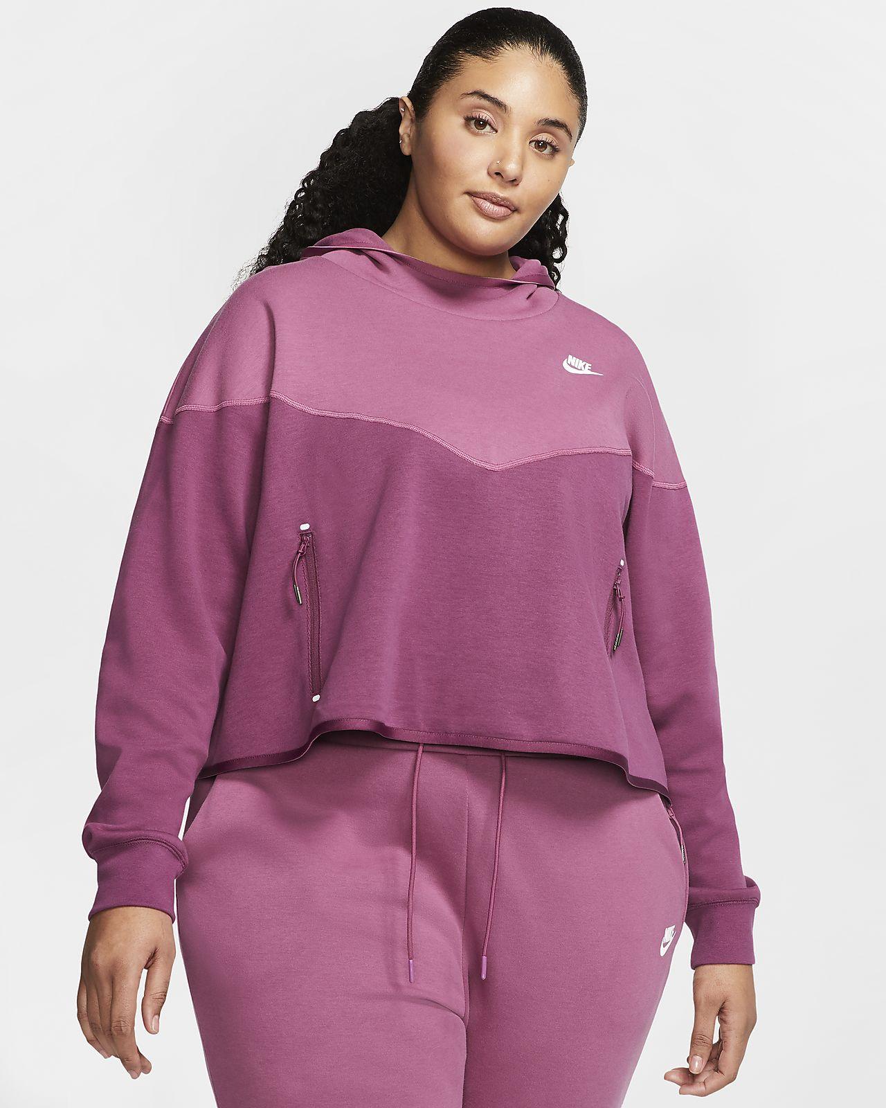Nike Sportswear Tech Fleece Women's Pullover Hoodie (Plus Size)