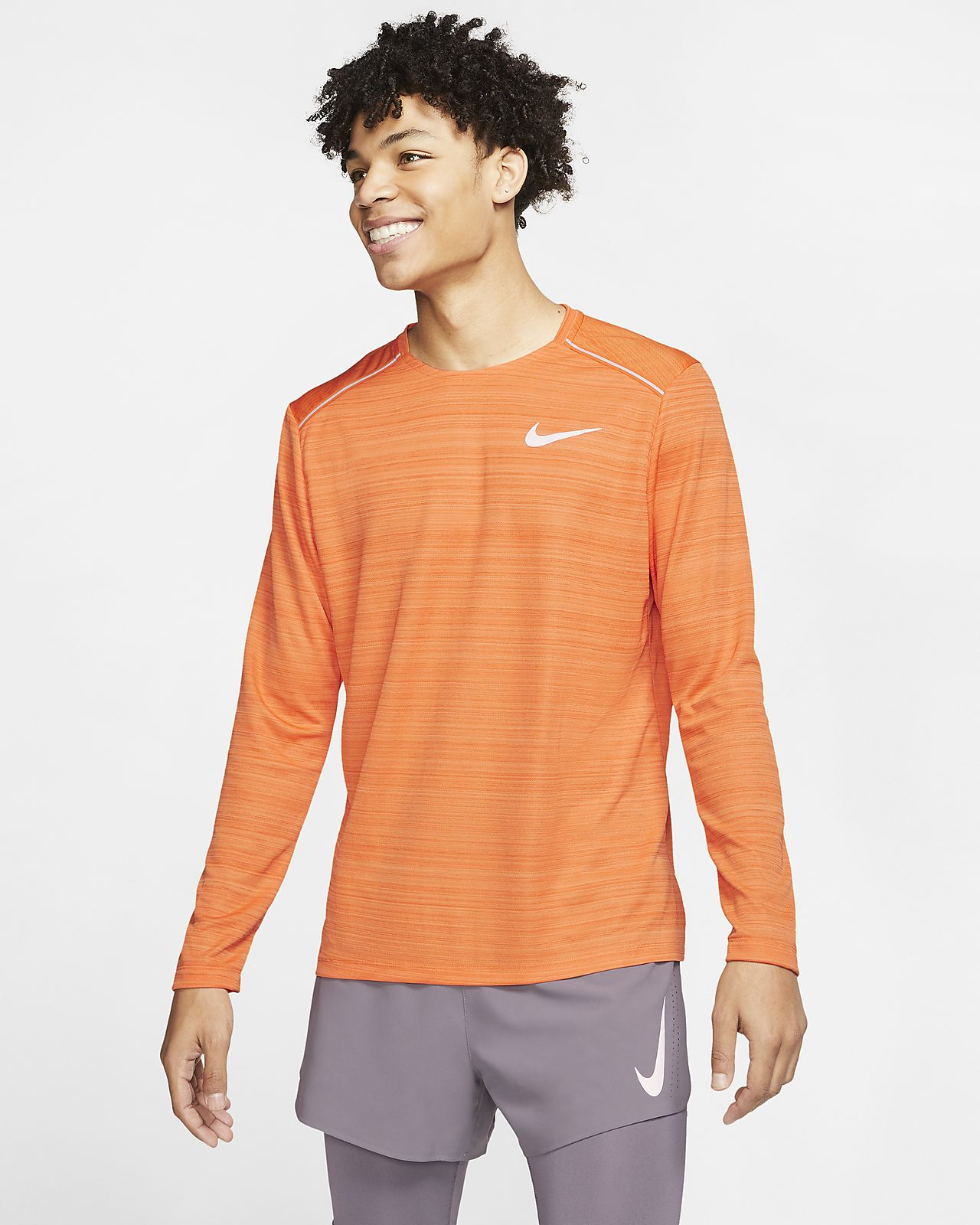 Nike Dri FIT Miler langermet løpeoverdel til herre