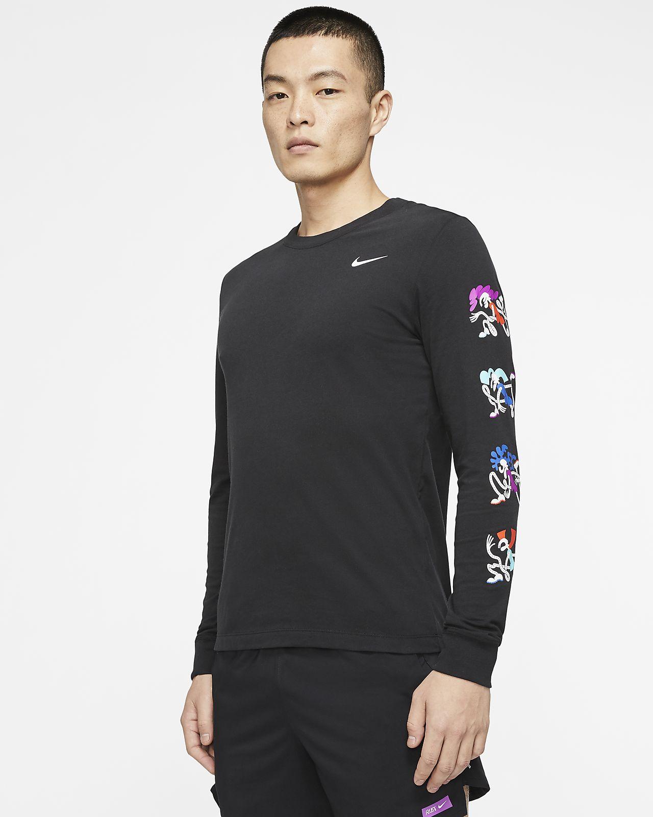 Nike Dri FIT Men's Long Sleeve T Shirt